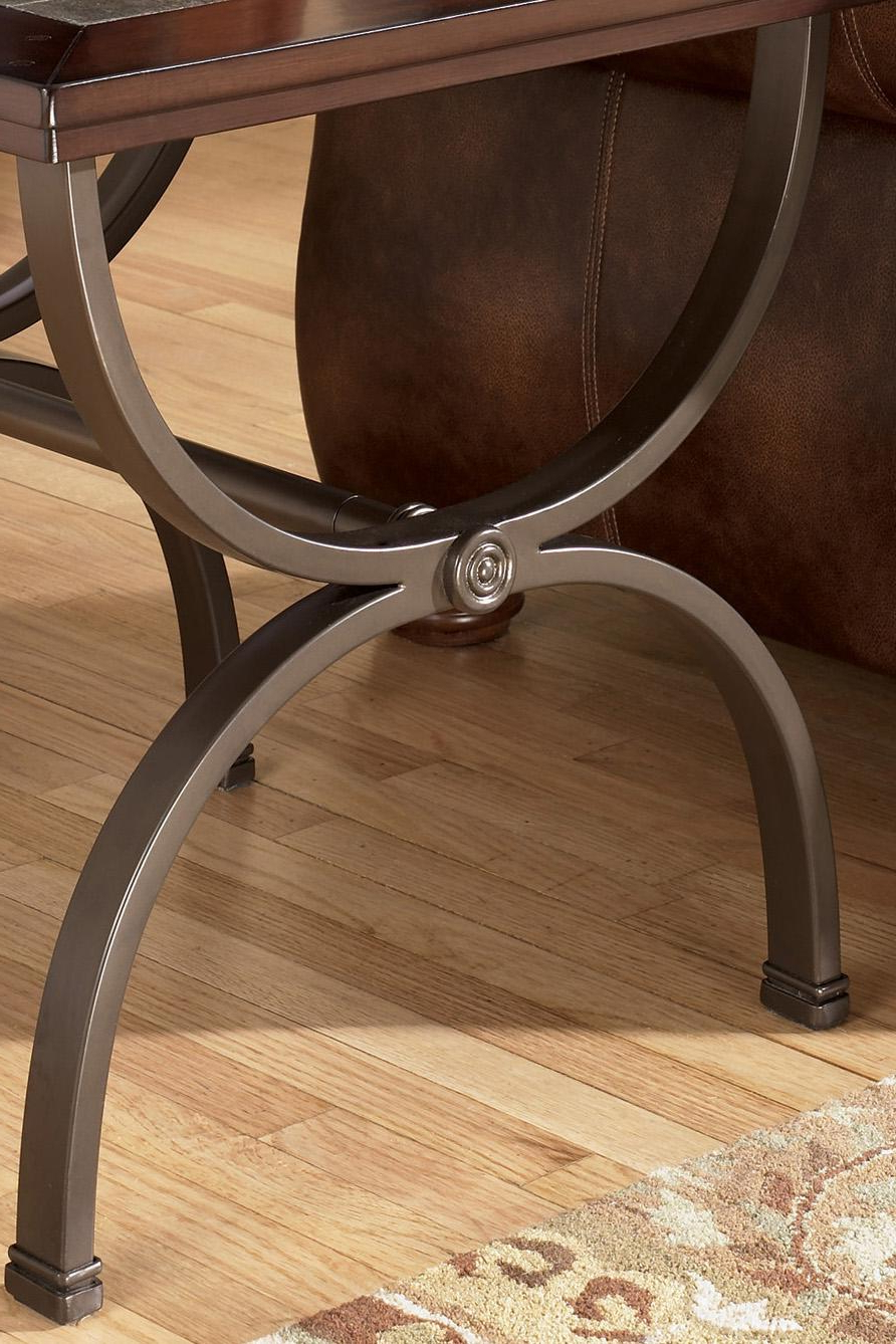 Zander Cocktail Tables Inside 2019 Signature Designashley Zander Square End Table With Slate Inlay (View 17 of 20)