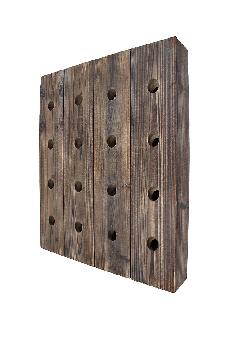 Zeckos: Wall Mounted 16 Bottle Rustic Wooden Wine Rack 25 In (View 20 of 20)