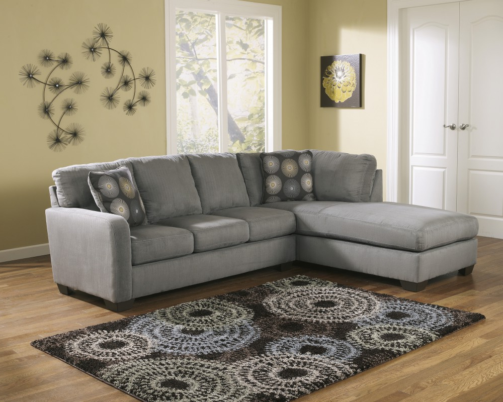 Zella – Charcoal 2 Pc. Laf Corner Chaise Sectional (Gallery 9 of 20)