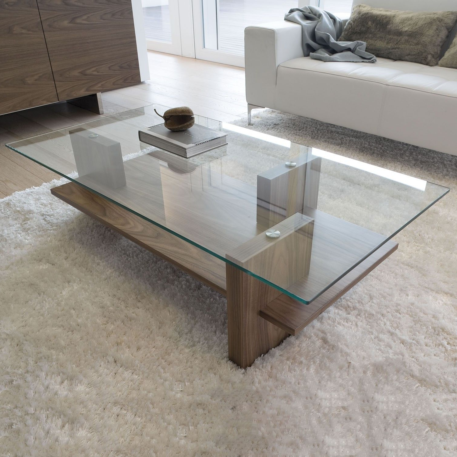 Zen Coffee Table, Walnut Or Smoked Oak (Gallery 14 of 20)