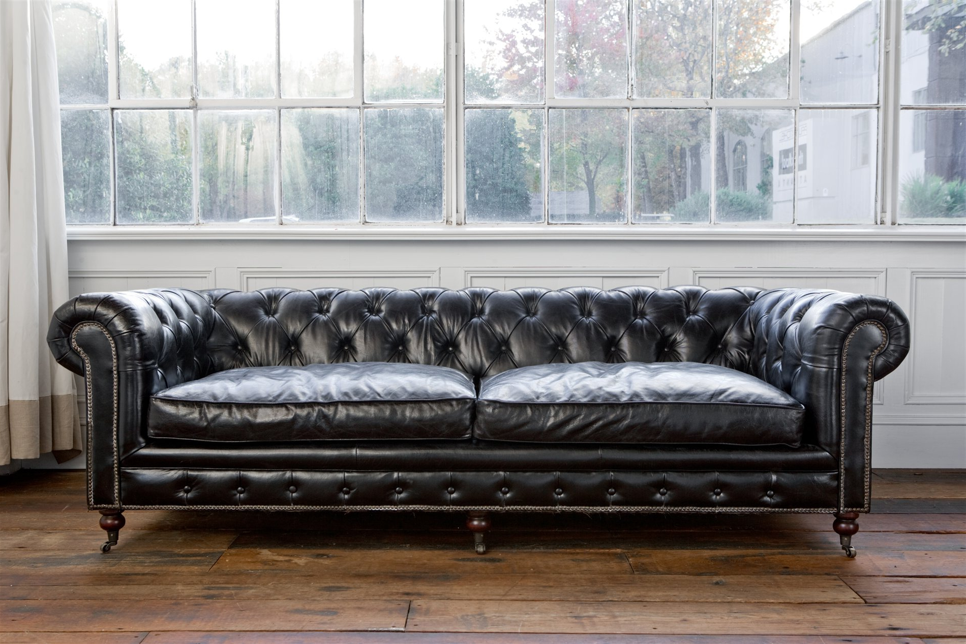 2018 Andrew Leather Sofa Chairs For Regina Andrew Design 4 164Vbk Extra Deep Blk Chesterfield Sofa (View 15 of 20)