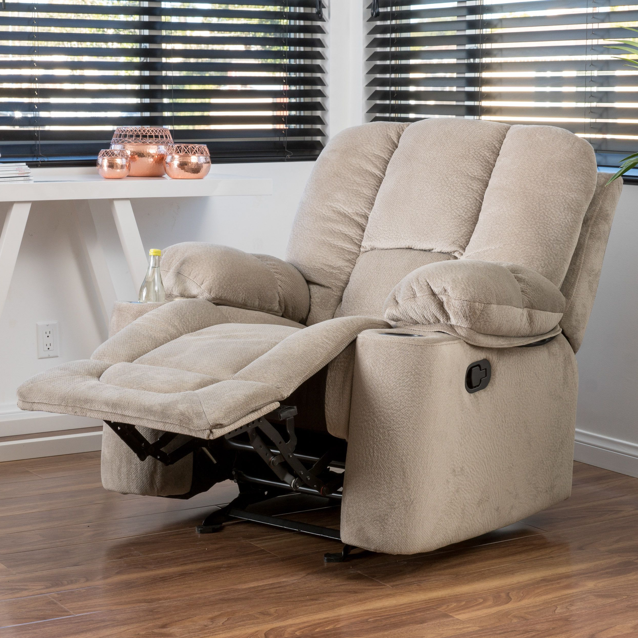 2018 Gannon Linen Power Swivel Recliners Pertaining To Gannon Fabric Glider Recliner Club Chairchristopher Knight Home (View 4 of 20)