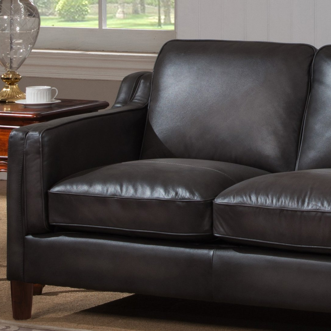 2018 Shop Ames Premium Hand Rubbed Grey Top Grain Leather Sofa And Intended For Ames Arm Sofa Chairs (Gallery 8 of 20)