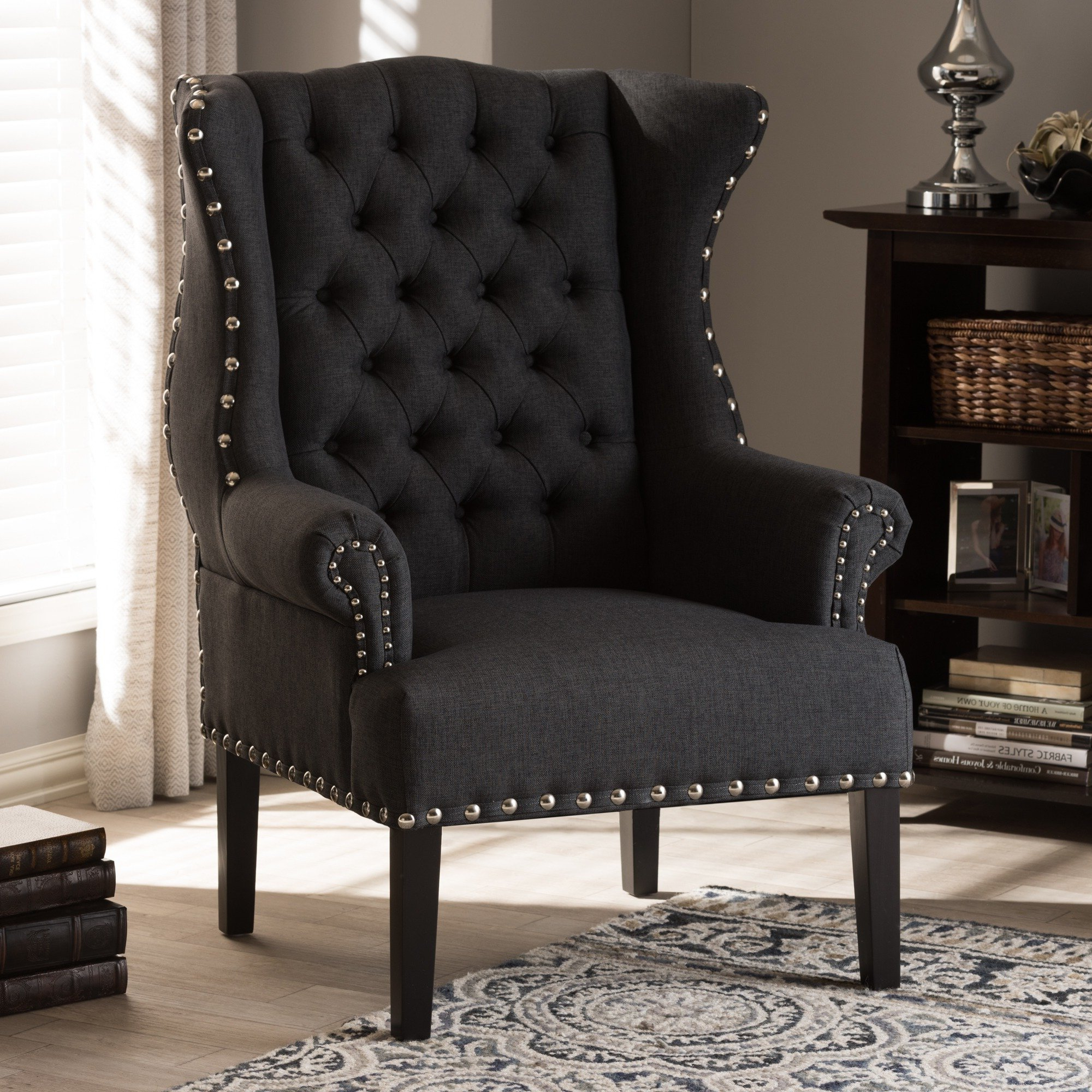 2018 Shop Baxton Studio Patterson Grey Linen And Burlap Upholstered Regarding Patterson Ii Arm Sofa Chairs (Gallery 12 of 20)