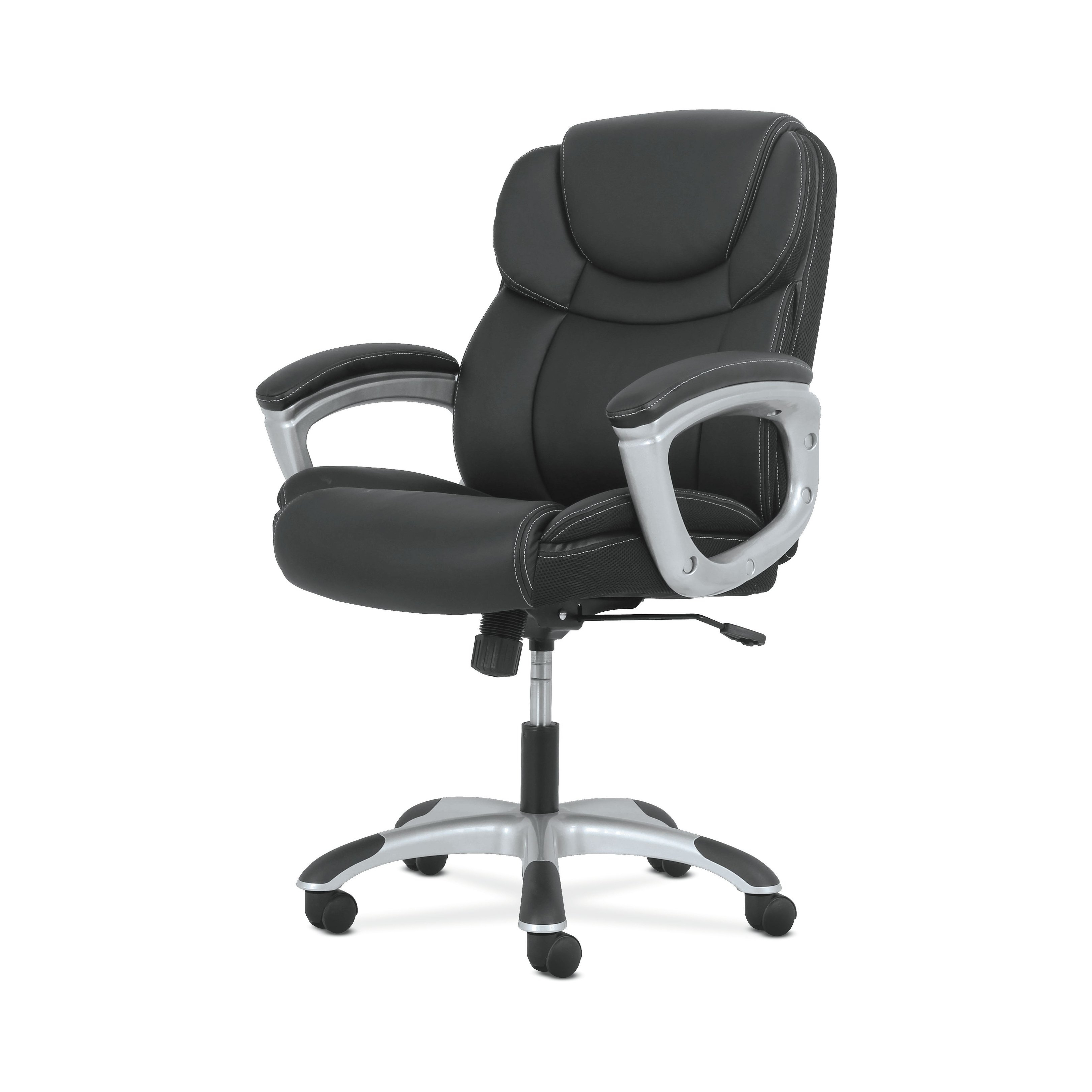 2018 Shop Sadie Leather Executive Computer/office Chair With Arms In Sadie Ii Swivel Accent Chairs (View 14 of 20)