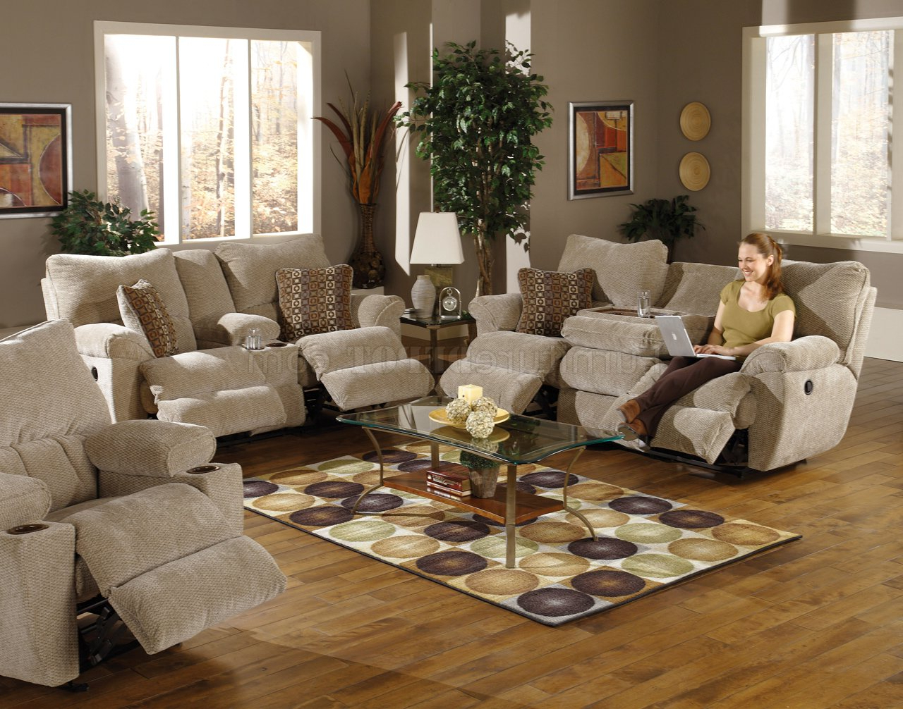 2018 Sofa Loveseat And Chairs Inside Sable/earth Fabric Madison Reclining Sofa & Loveseat Set (View 1 of 20)