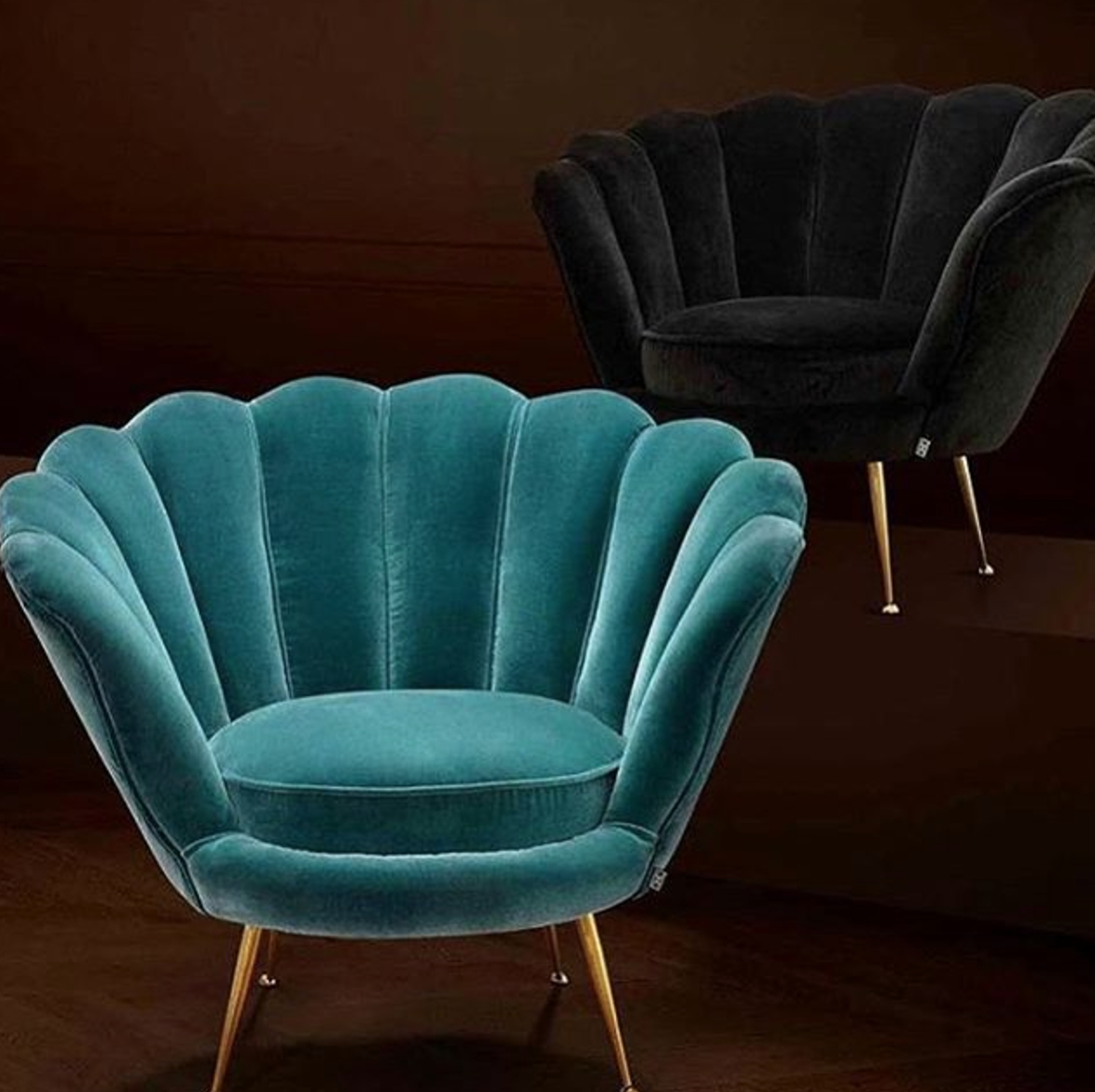 2018 Trapezium Cameron Deep Turquoise Chair (View 4 of 20)