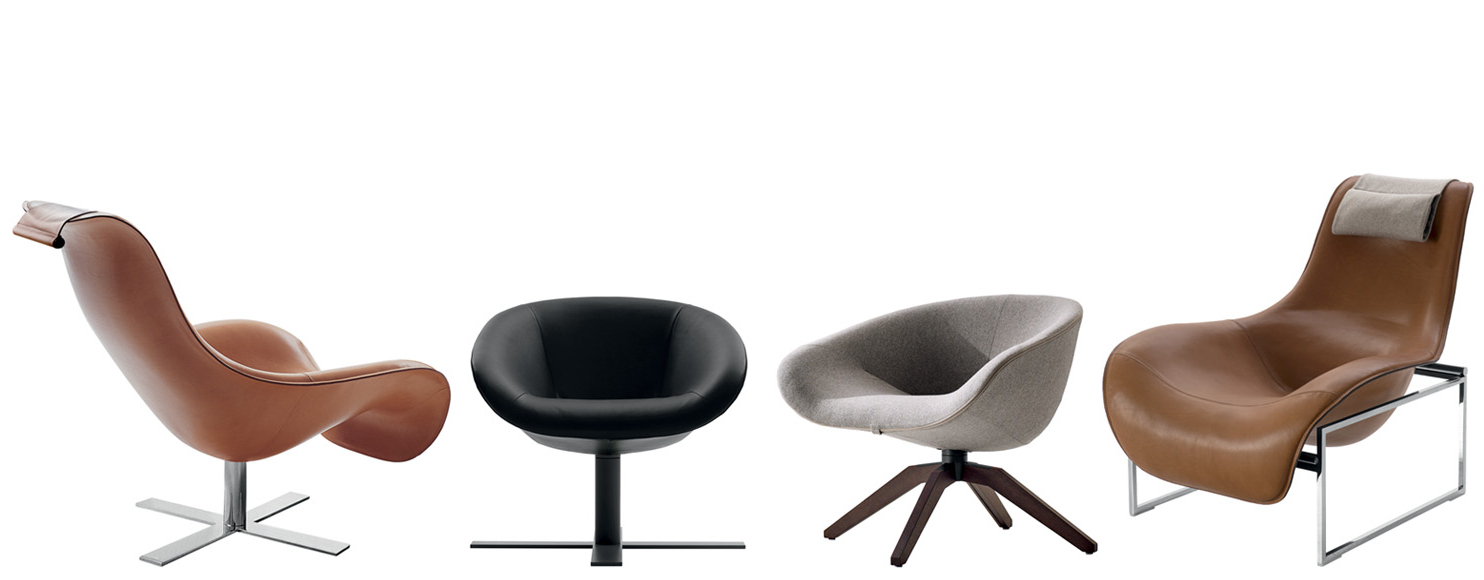 2019 Armchair Mart  B&b Italia – Designantonio Citterio Within Theo Ii Swivel Chairs (View 1 of 20)