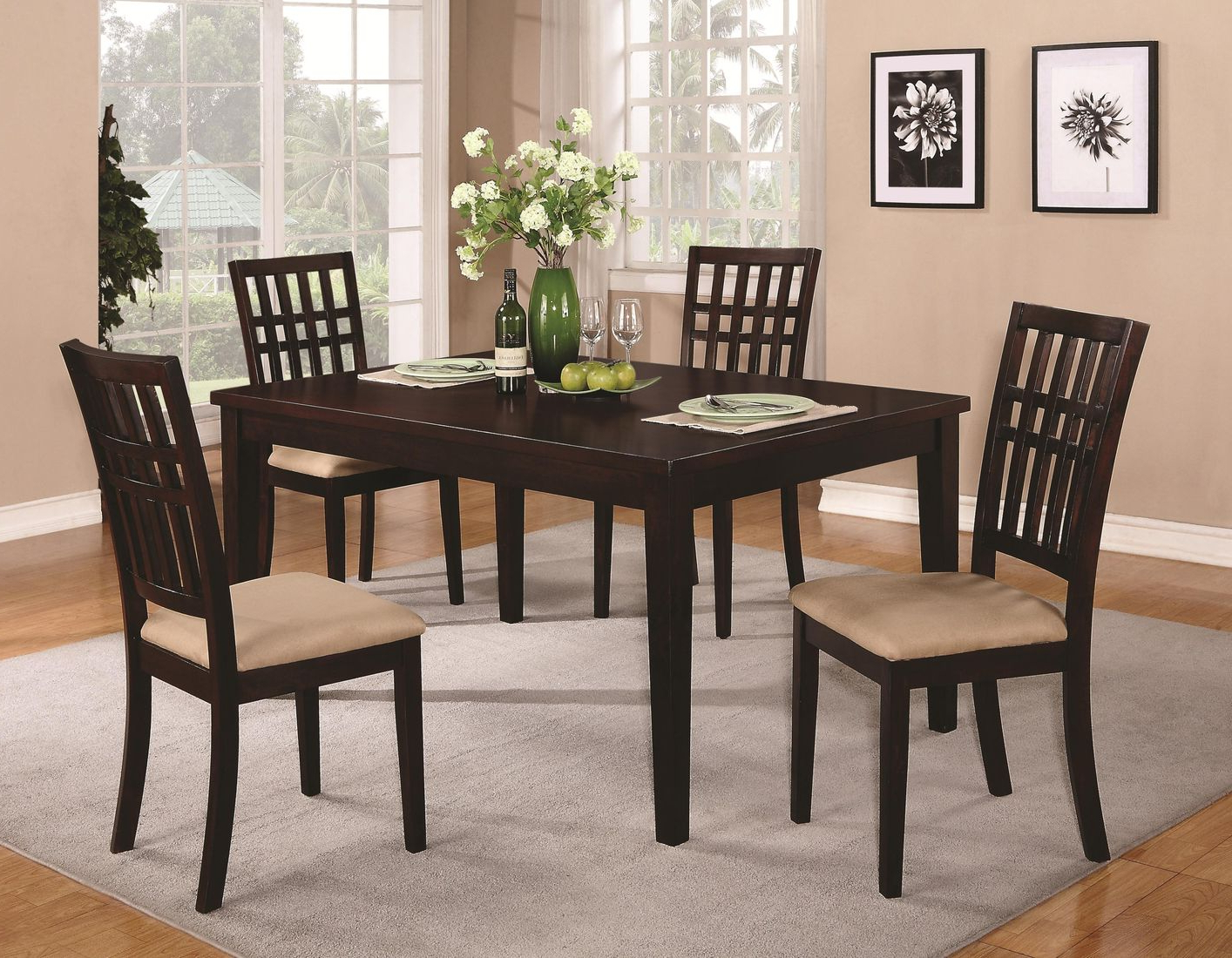 2019 Brandt Dark Cherry Wood Dining Table – Steal A Sofa Furniture Outlet Intended For Dining Table With Sofa Chairs (Gallery 19 of 20)