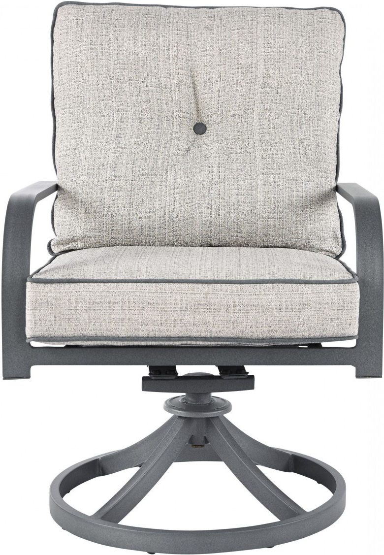 2019 Dark Grey Swivel Chairs Pertaining To Signature Designashley Donnalee Bay Dark Gray Outdoor Swivel (View 3 of 20)