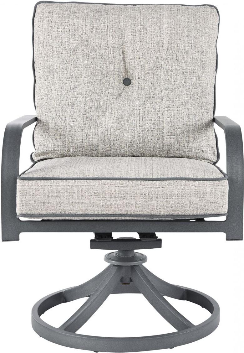 2019 Dark Grey Swivel Chairs Pertaining To Signature Designashley Donnalee Bay Dark Gray Outdoor Swivel (View 18 of 20)