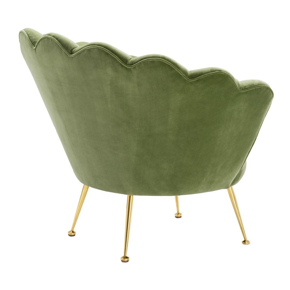 2019 Eichholtz Trapezium Chair Cameron Light Green Velvet Brass Legs Within Cameron Sofa Chairs (View 5 of 20)