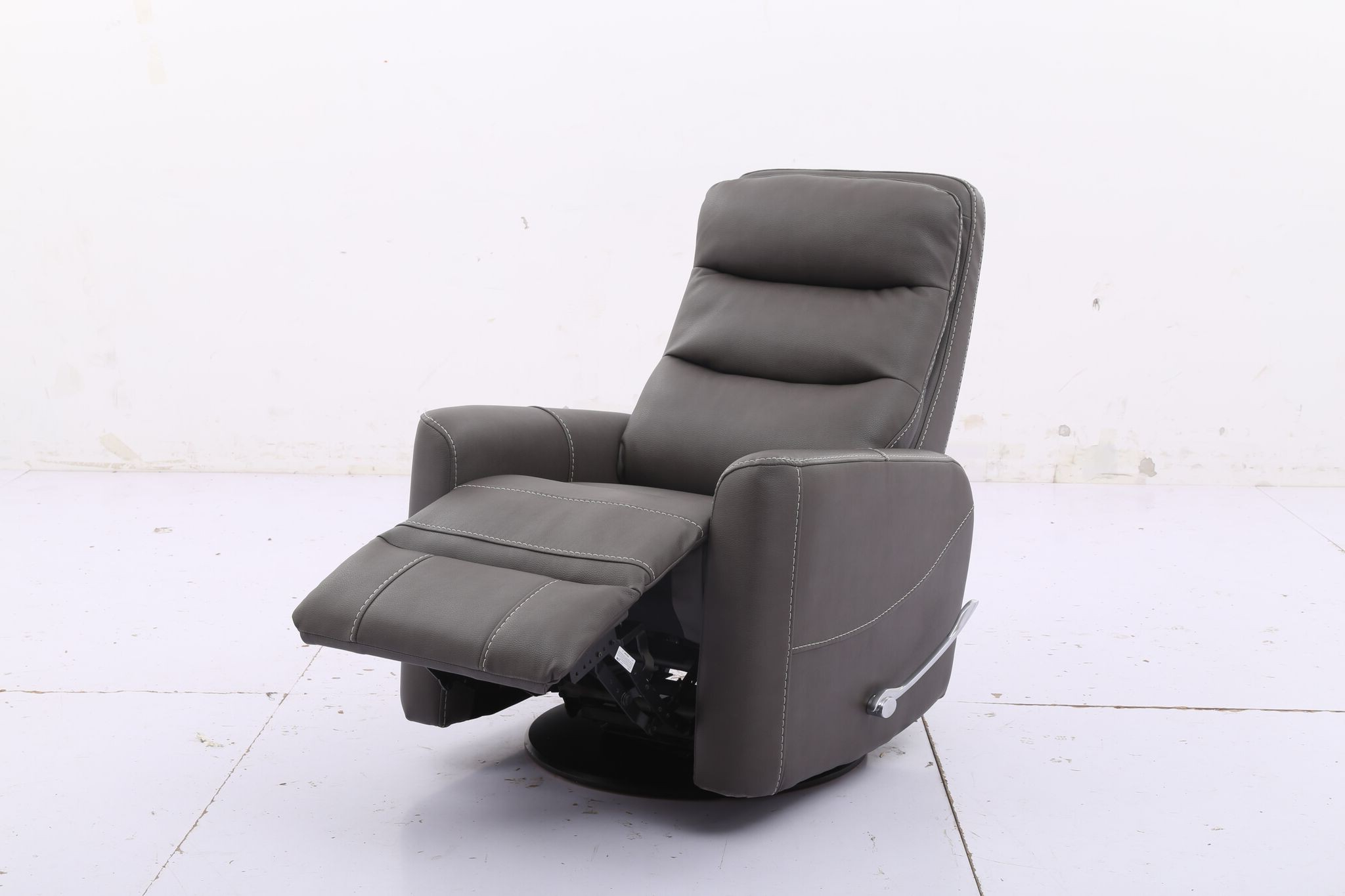 2019 Hercules  Haze  Swivel Glider Recliner With Articulating Headrest For Hercules Oyster Swivel Glider Recliners (View 2 of 20)