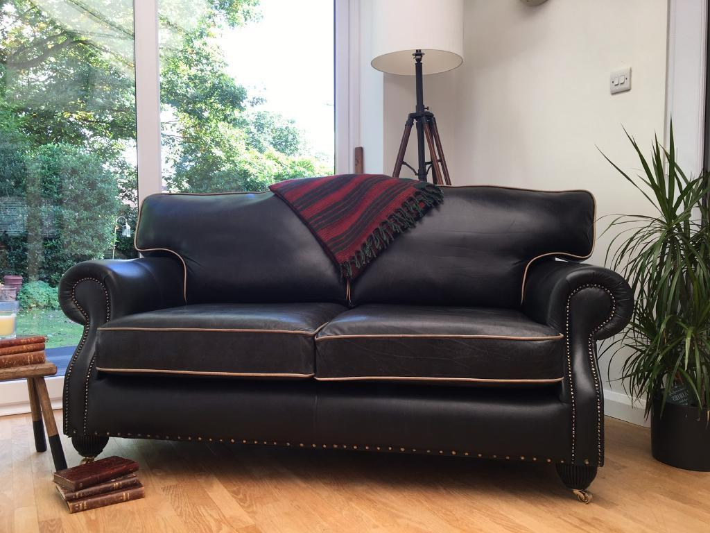 2019 Lovely Chesterfield Club Style Sofa/settee Graphite Grey Leather With Regard To Mansfield Graphite Velvet Sofa Chairs (View 6 of 20)