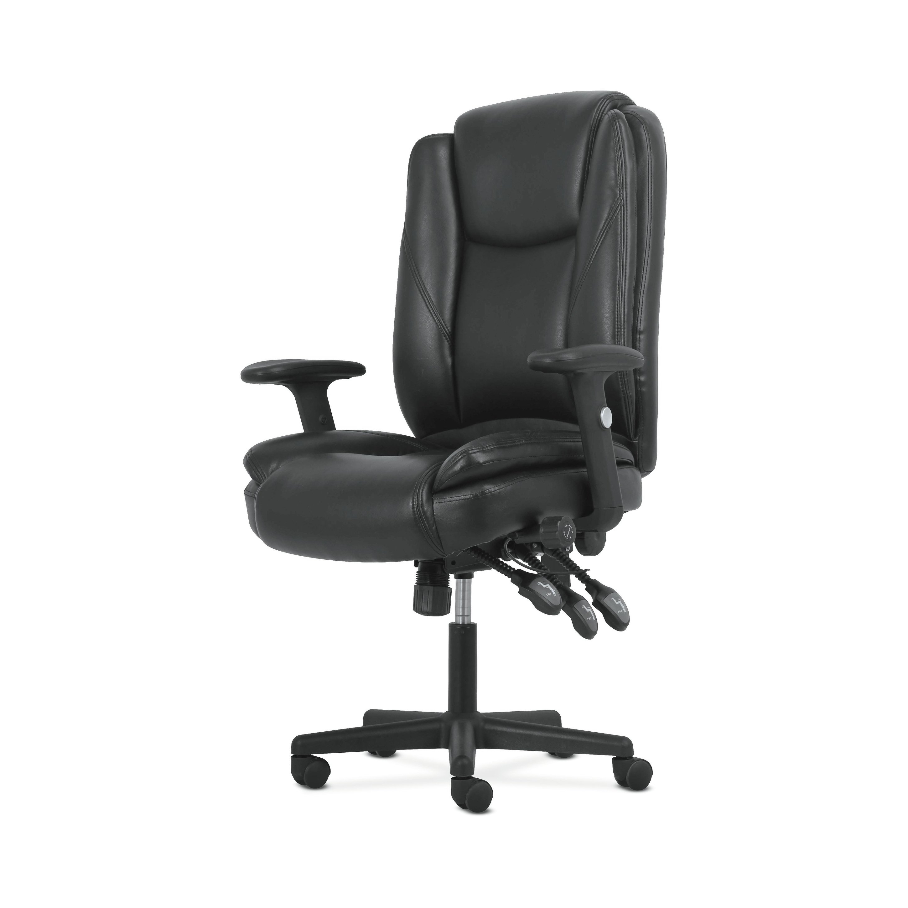 2019 Sadie Ii Swivel Accent Chairs Within Shop Sadie Black Softhread Leather High Back Adjustable Swivel (View 2 of 20)