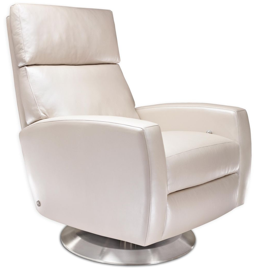 2019 Snow White American Leather Ella Recliner From Treeforms. Perfect With Dale Iii Polyurethane Swivel Glider Recliners (Gallery 7 of 20)