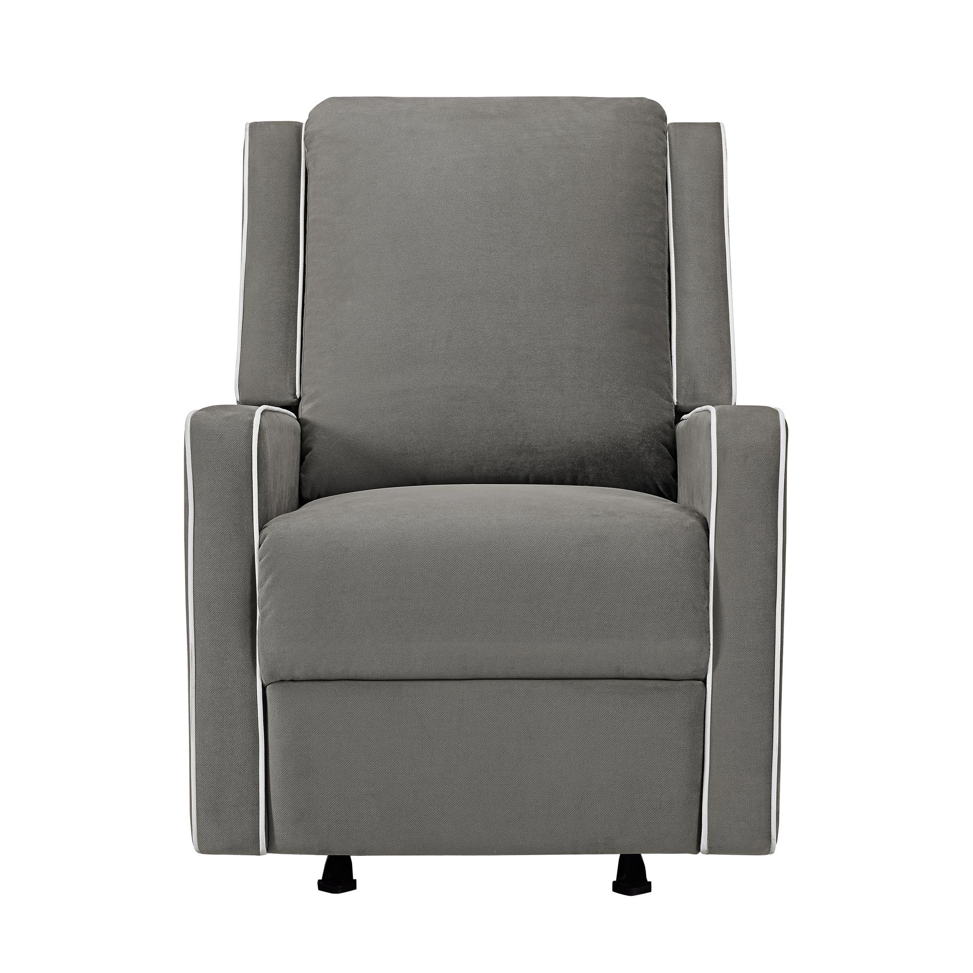Abbey Swivel Glider Recliners Throughout Trendy Baby Relax Robyn Rocking Recliner, Graphite Grey – Walmart (View 10 of 20)