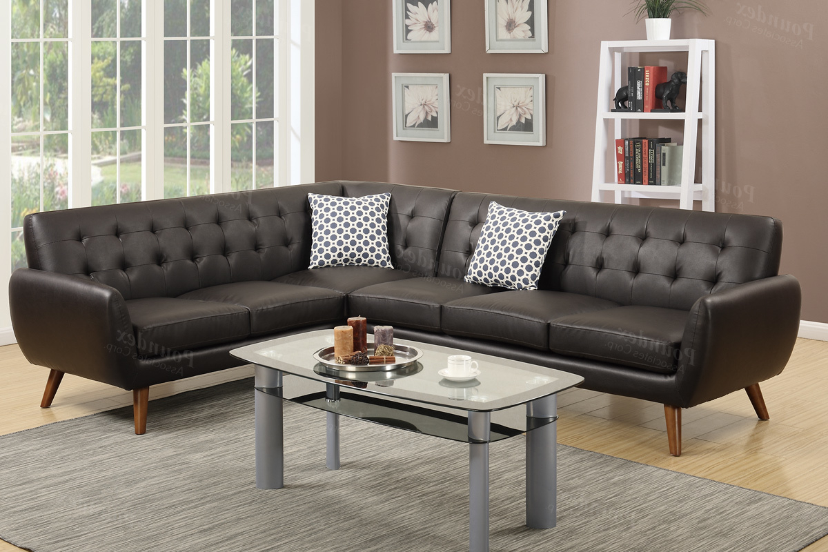 Abigail Ii Sofa Chairs Pertaining To Preferred Brown Leather Sectional Sofa – Steal A Sofa Furniture Outlet Los (View 4 of 20)