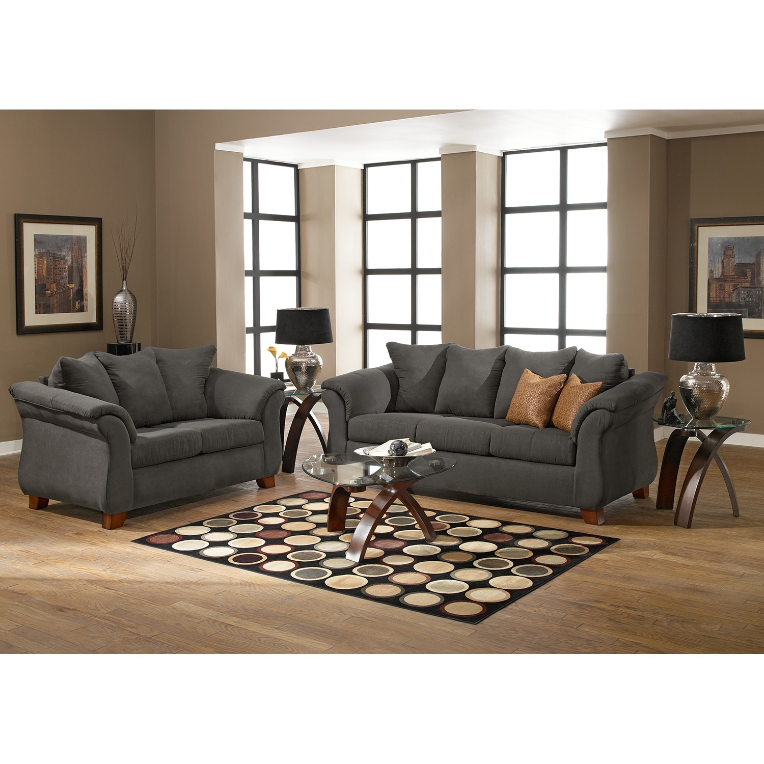 Adrian Sofa And Loveseat Set (Gallery 1 of 20)