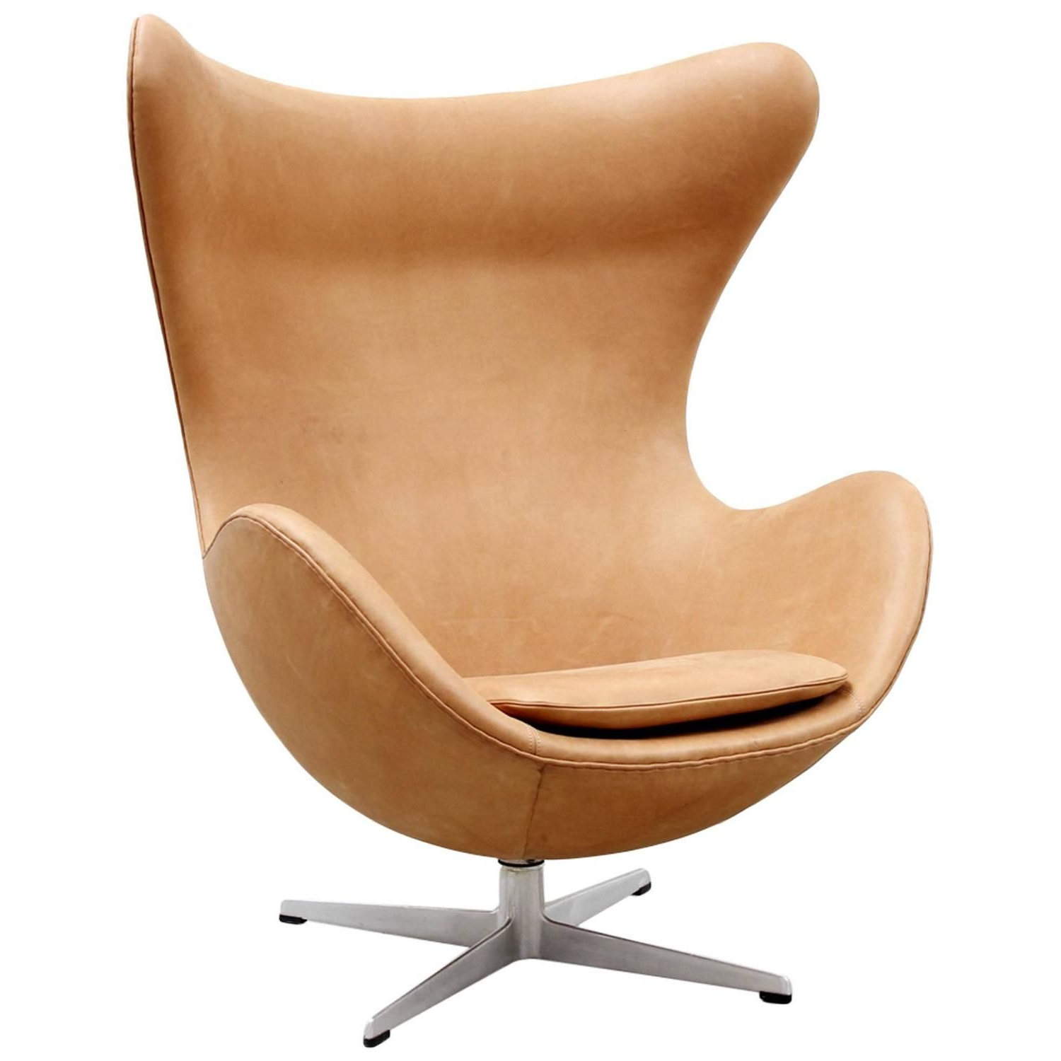 Alder Grande Ii Swivel Chairs With Fashionable Cognac Leather Egg Chairarne Jacobsen For Fritz Hansen, 1966 (Gallery 10 of 20)