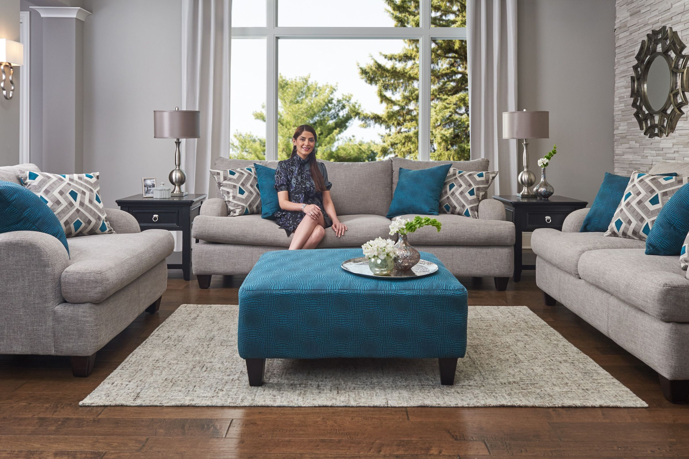 Allie Dark Grey Sofa Chairs Throughout Most Recently Released Paradise Living Room Collection (View 6 of 20)