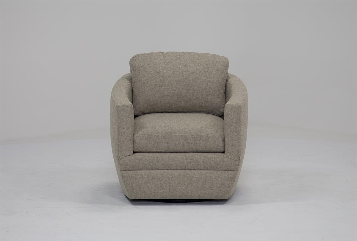 Amala White Leather Reclining Swivel Chairs Throughout Best And Newest Chadwick Gunmetal Swivel Chair (View 7 of 20)