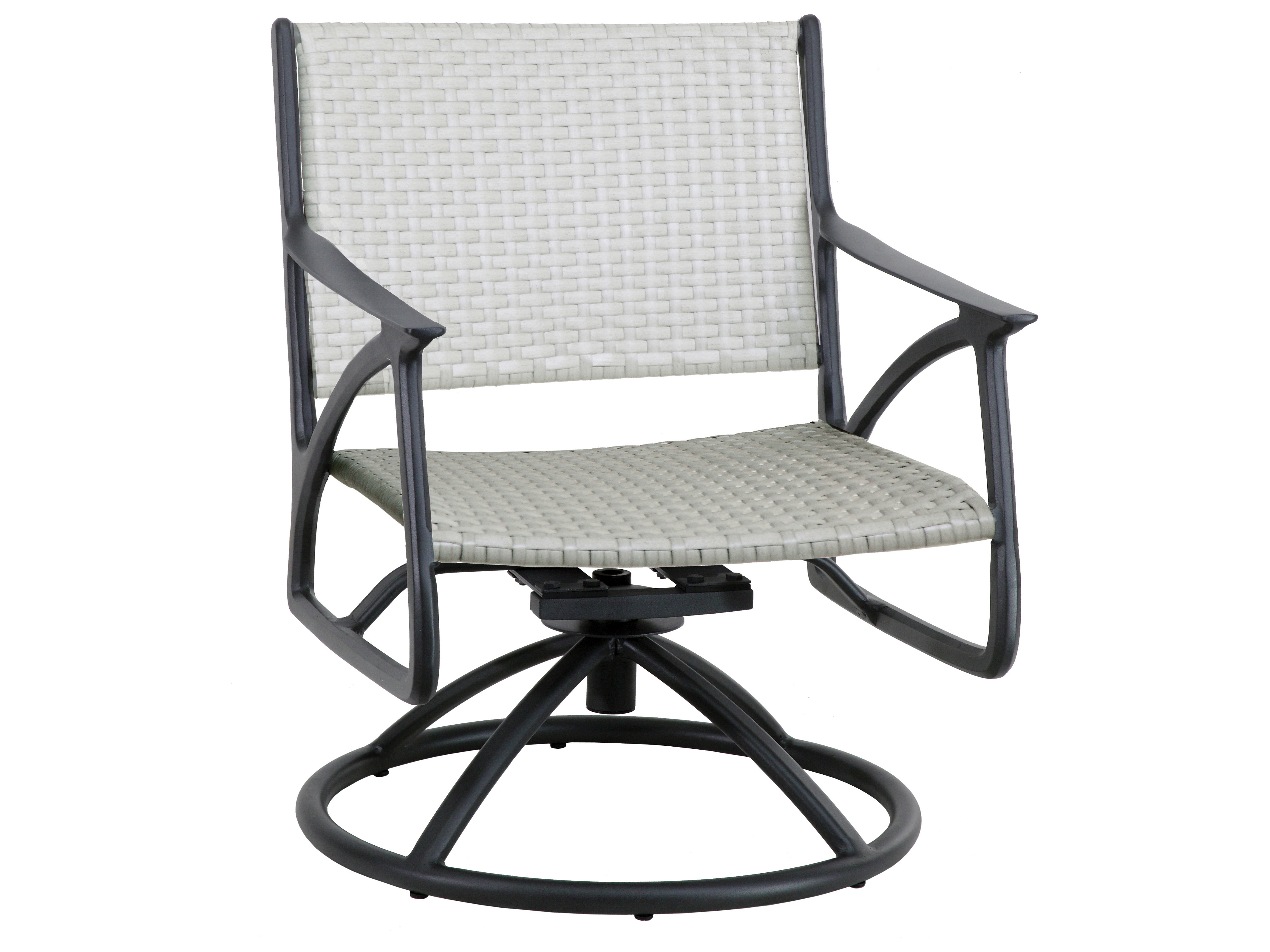 Amari Swivel Accent Chairs Intended For Recent Gensun Amari Woven Aluminum Wicker Swivel Rocking Lounge Chair (View 5 of 20)