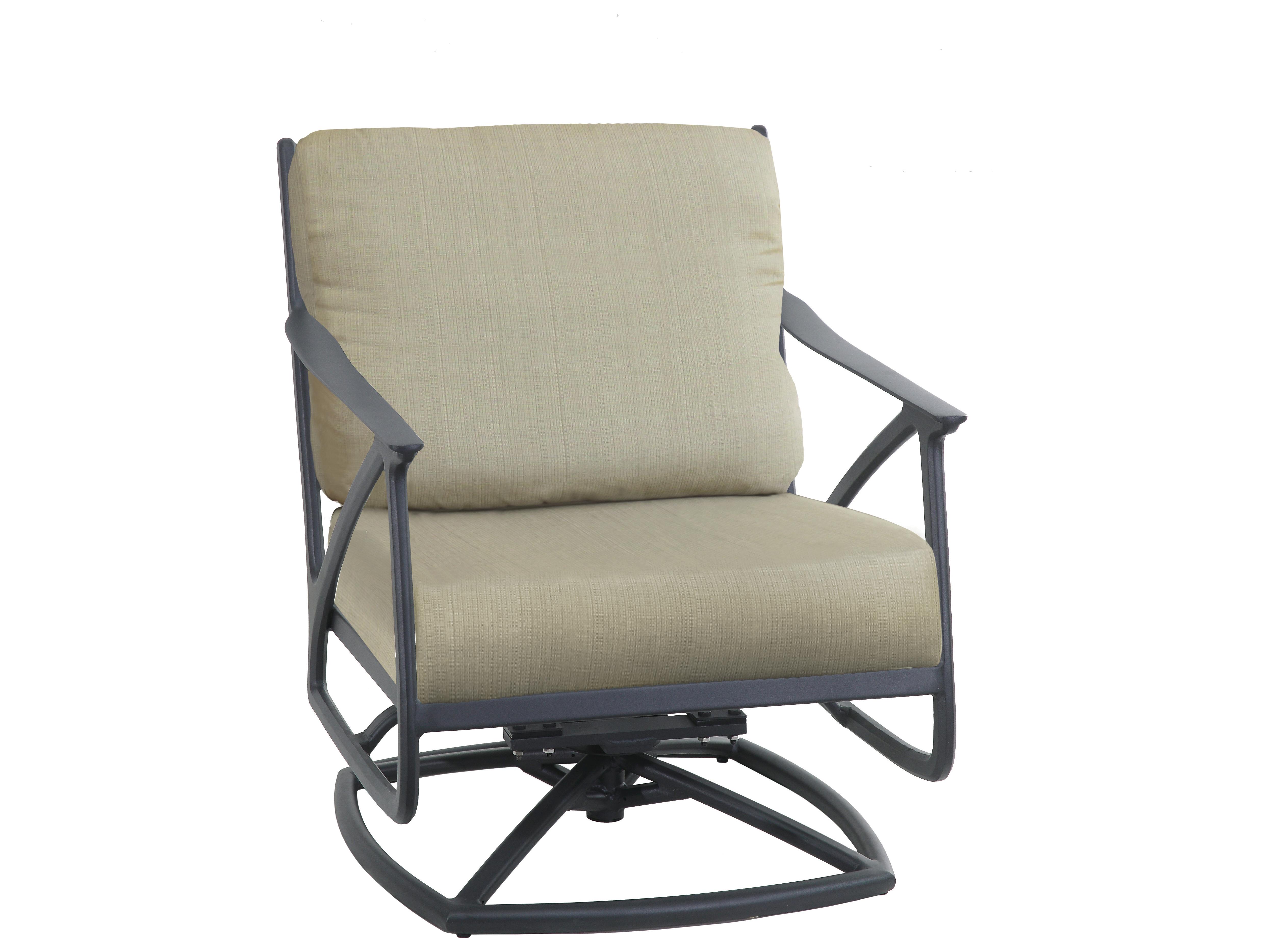 Amari Swivel Accent Chairs Throughout 2019 Gensun Amari Aluminum Csuhion Swivel Rocking Lounge Chair (Gallery 7 of 20)