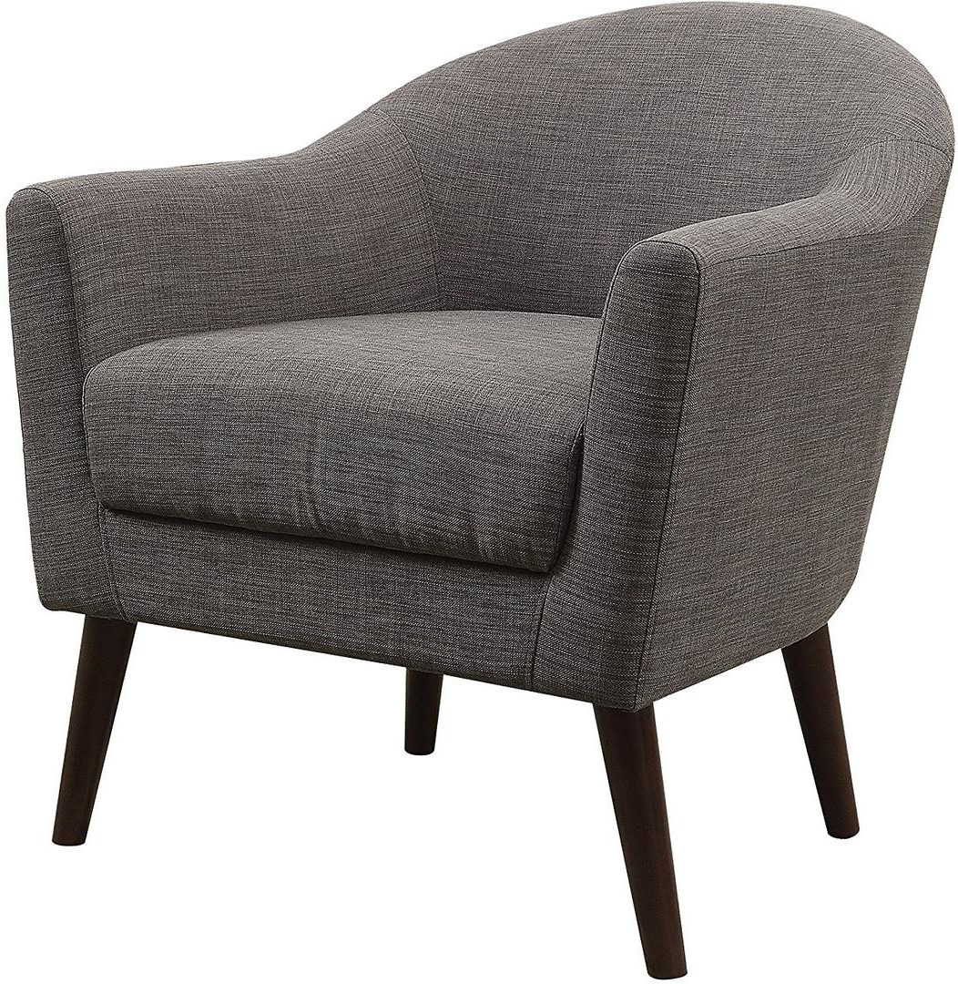 Amari Swivel Accent Chairs With Newest Acme Furniture 59741 Amari Series Barrel Fabric Wood Frame Accent (View 9 of 20)