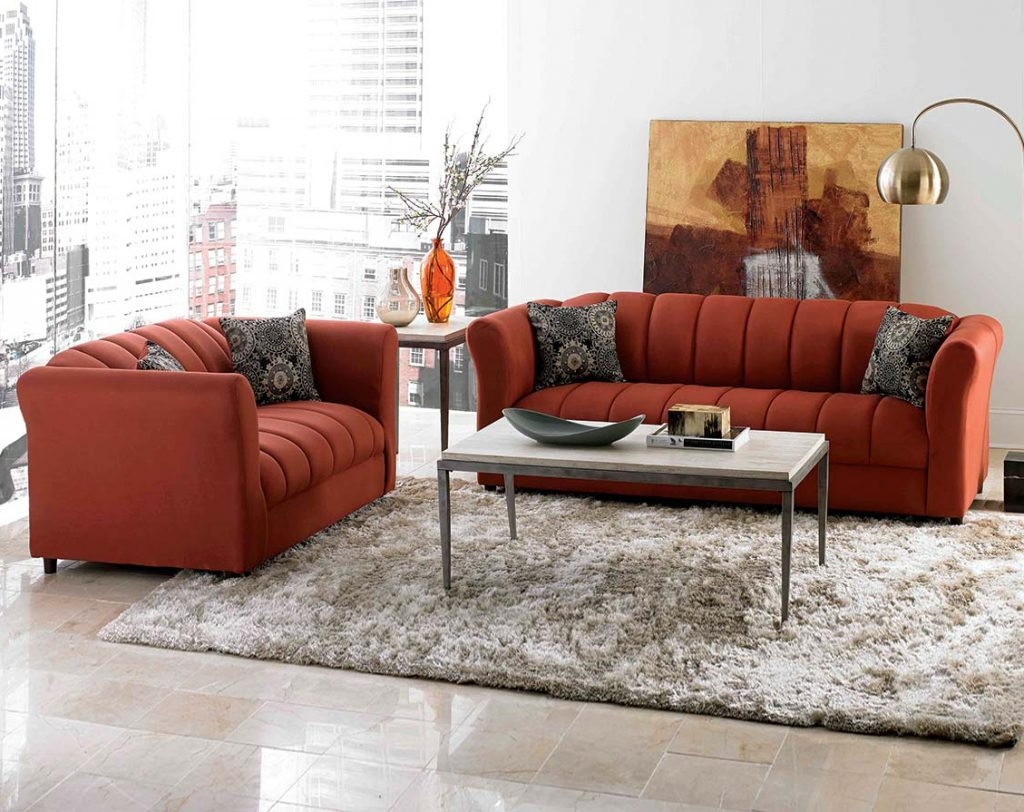 American Freight Intended For Orange Sofa Chairs (Gallery 3 of 20)