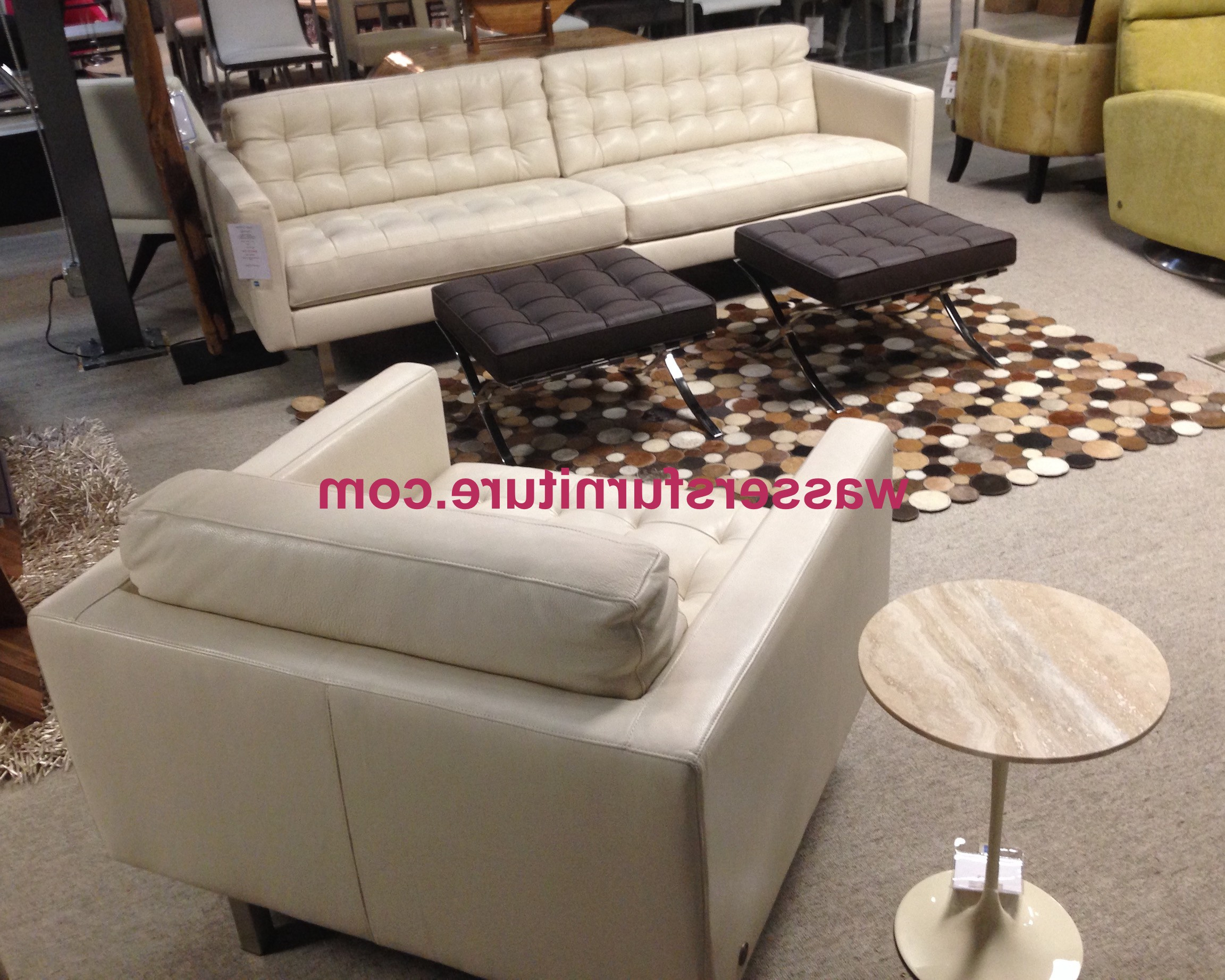 American Leather – Parker – Sofa – Bison White – Leather – In Stock! Intended For Well Liked Parker Sofa Chairs (Gallery 19 of 20)