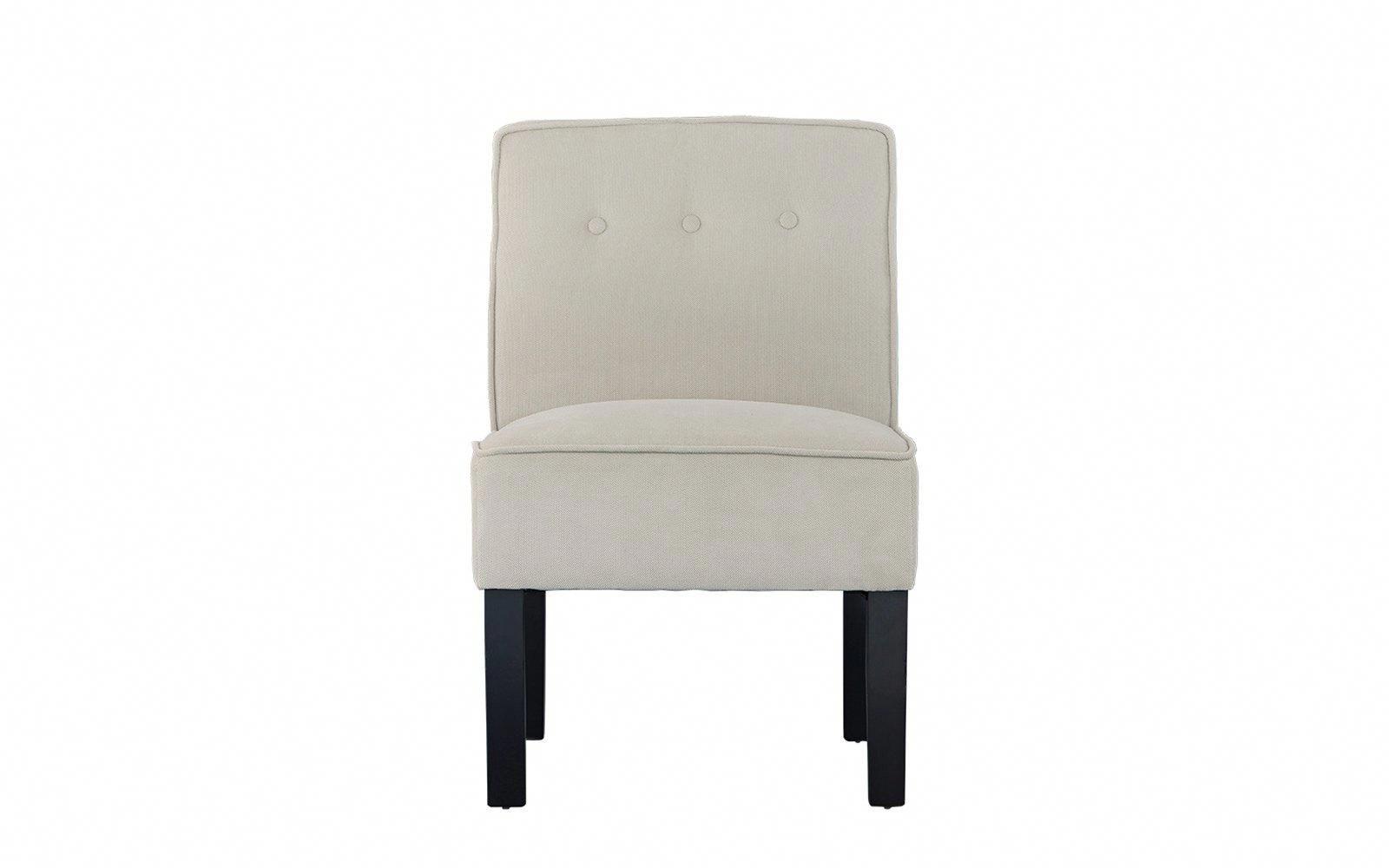 Ames Classic Armless Linen Accent Chair #ameschair (View 6 of 20)
