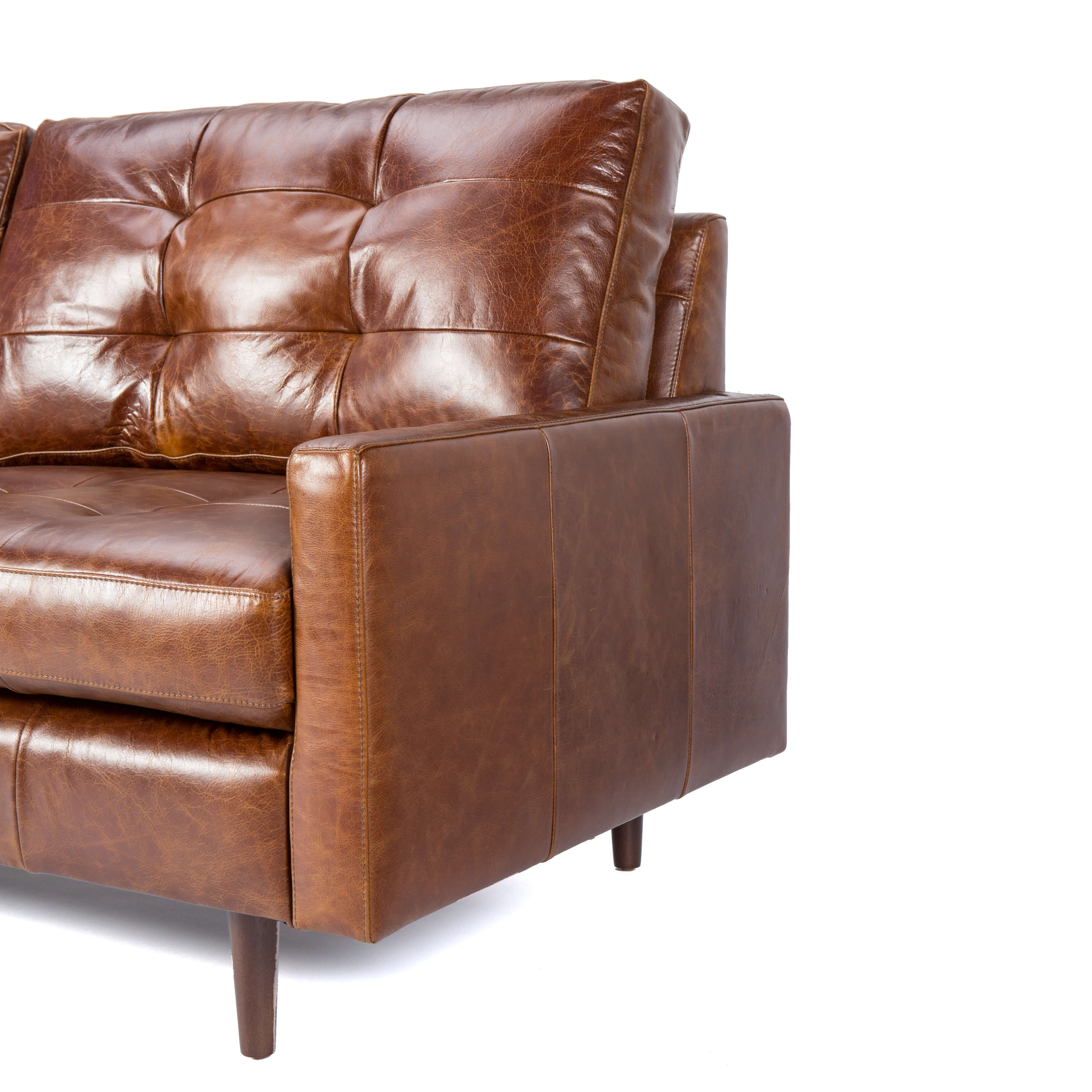 Andrew Leather Sofa Chairs For 2019 Leather Sofa With Tufted Back Cushion – Andrew – Zillo + Hutch (Gallery 5 of 20)
