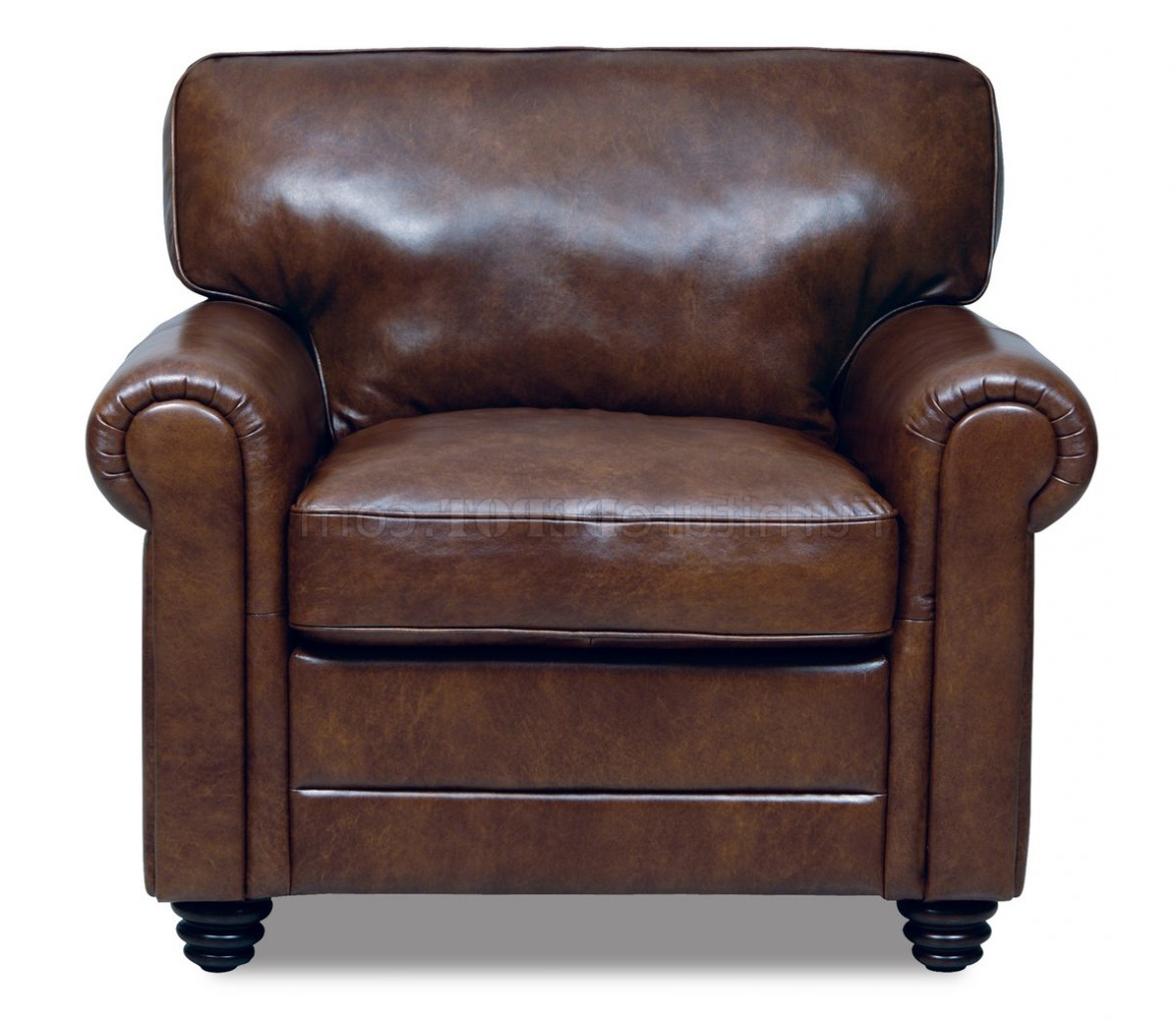 Andrew Sofa & Loveseat Set In Havana Full Italian Leather With Regard To Current Andrew Leather Sofa Chairs (View 7 of 20)