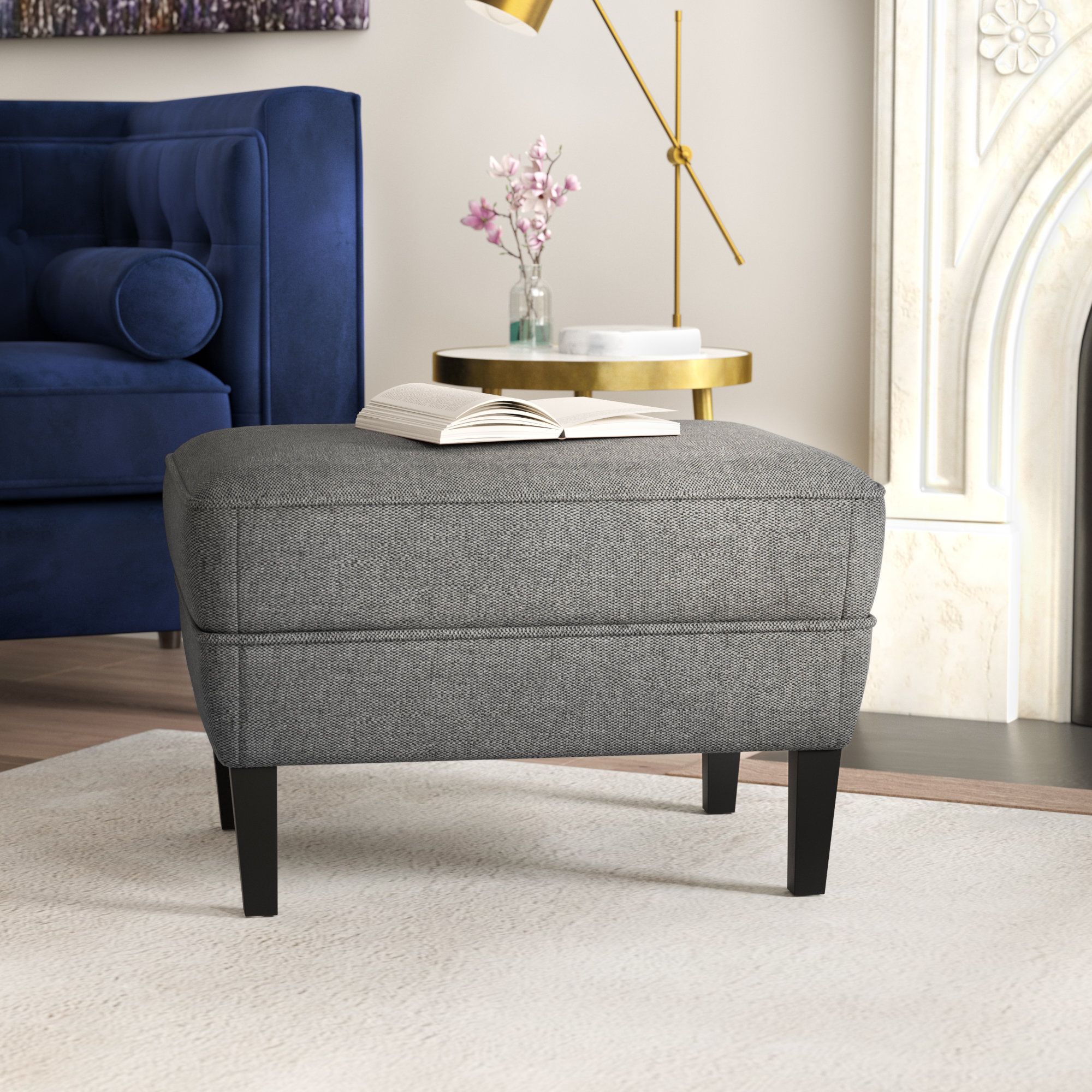 Aquarius Dark Grey Sofa Chairs Within Most Up To Date Willa Arlo Interiors Aquarius Ottoman & Reviews (View 4 of 20)