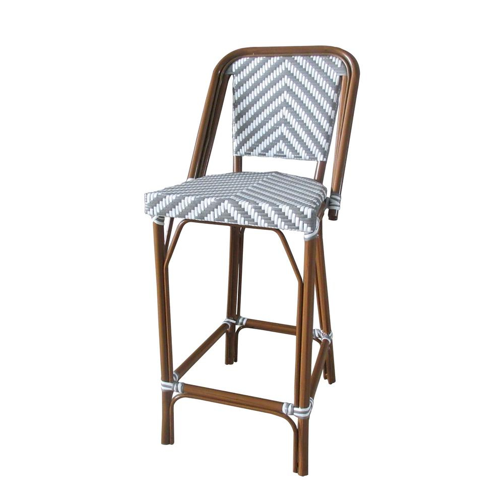 Aspen Brands Brown Stackable Aluminum And Plastic Wicker Bistro Bar In Most Up To Date Aspen Swivel Chairs (View 2 of 20)