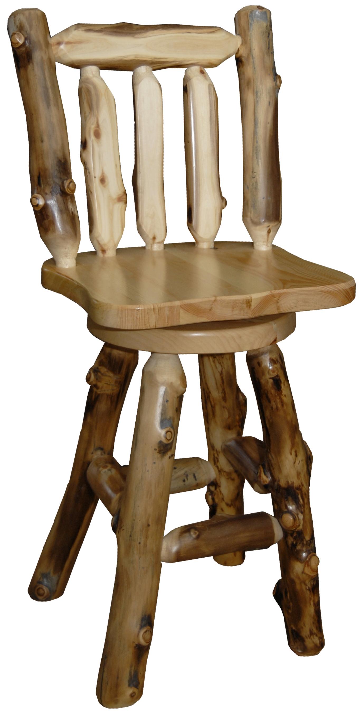 Aspen Swivel Chairs Regarding Most Recent Aspen Swivel Log Bar Stool (Gallery 11 of 20)