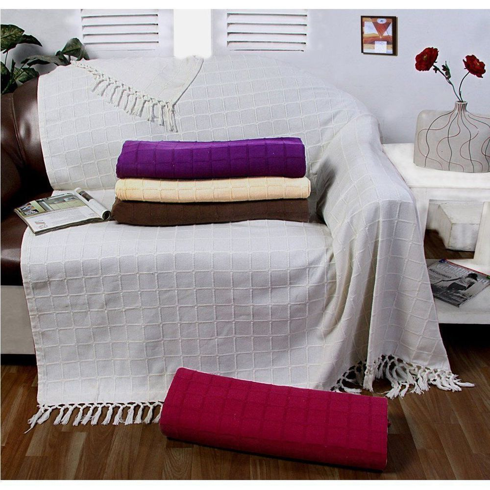 Featured Photo of Cotton Throws For Sofas And Chairs