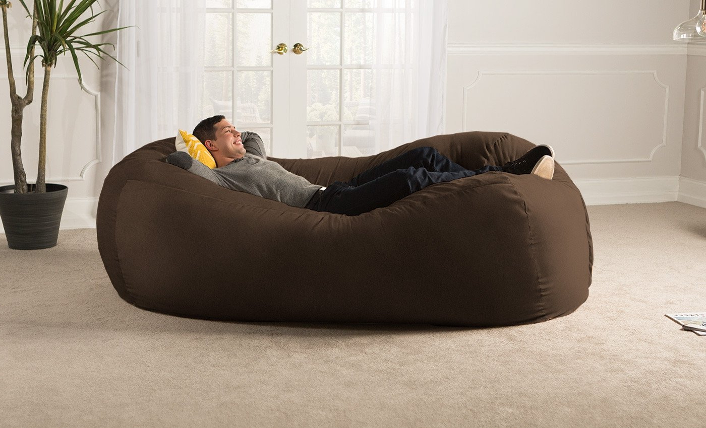 Bean Bag Sofa Chairs Intended For Well Known Sofa Saxx Giant Bean Bag Lounger – Microsuede (View 2 of 20)