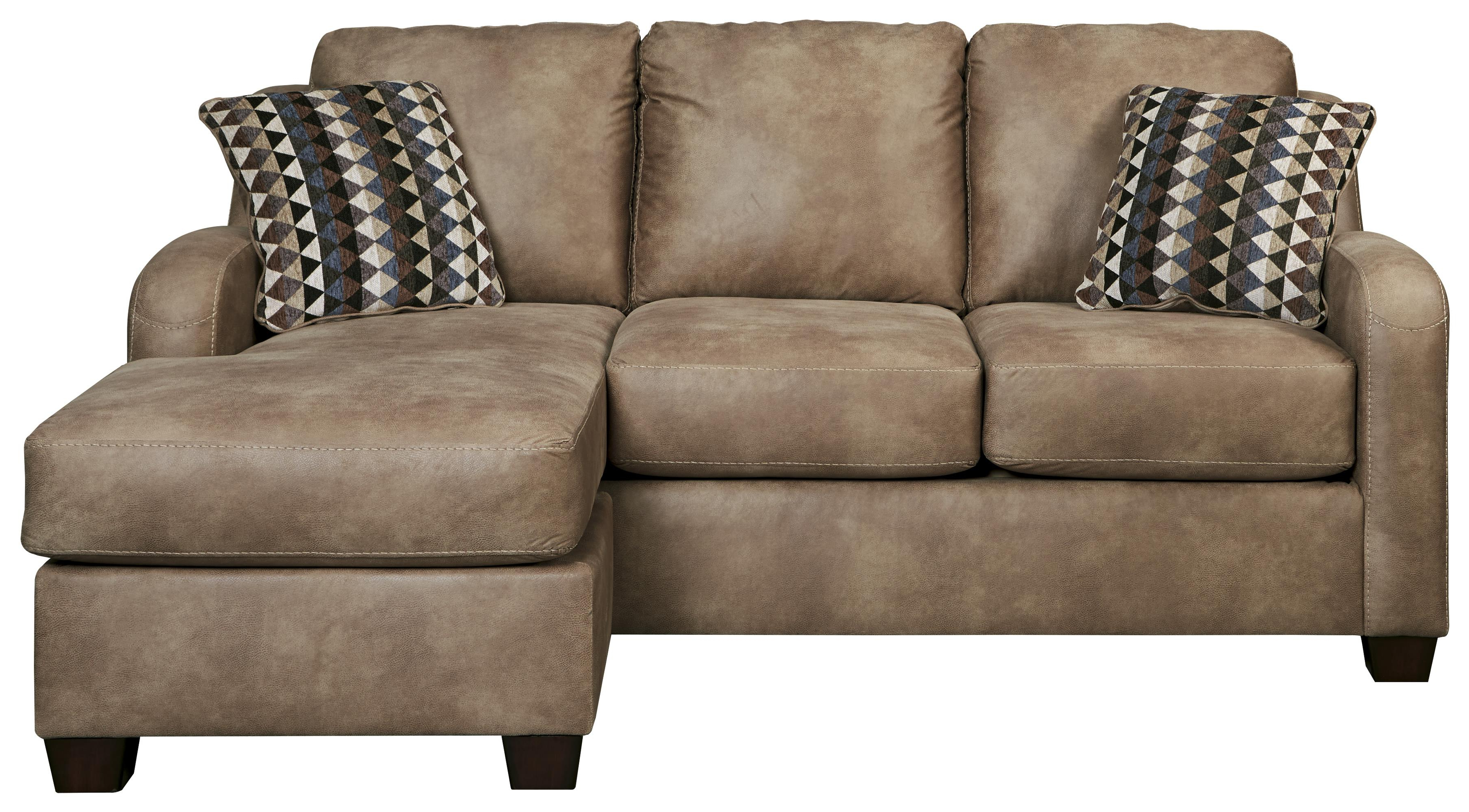 Benchcraft Alturo 6000318 Contemporary Faux Leather Sofa Chaise Pertaining To Trendy Chaise Sofa Chairs (Gallery 2 of 20)