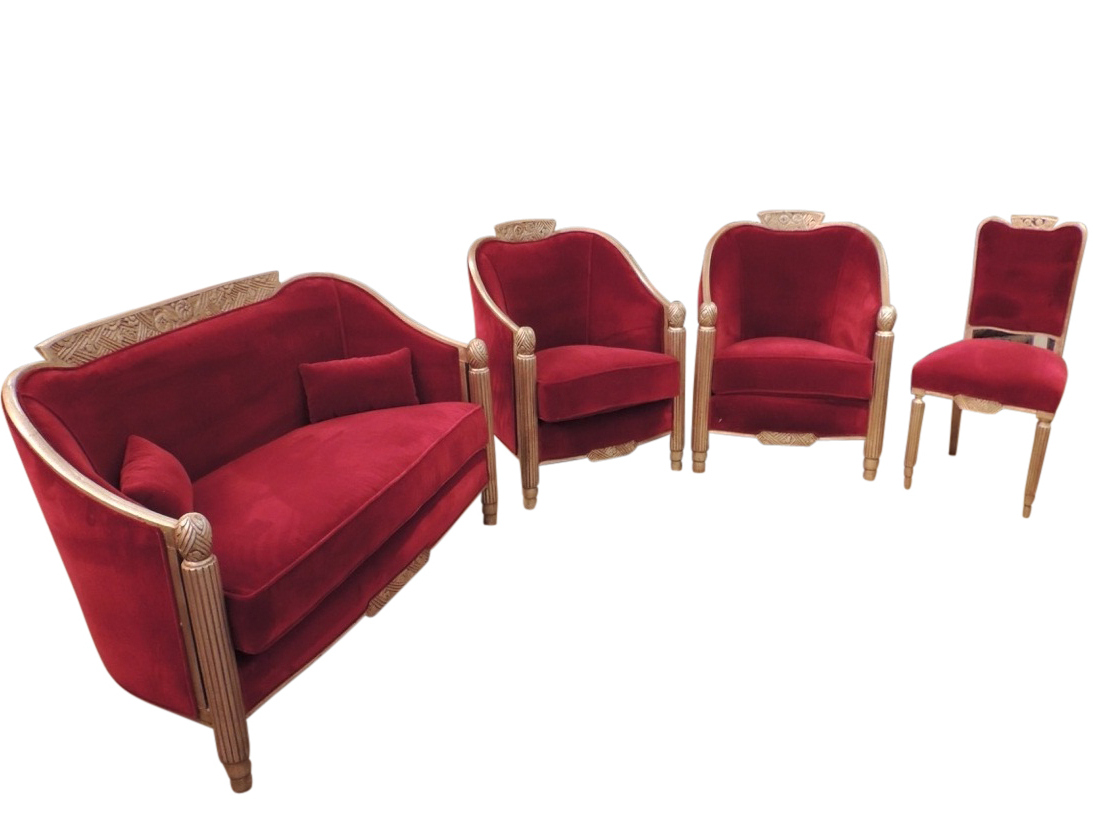 Best And Newest Art Deco Sofa And Chairs Throughout Art Deco Furniture Sold (View 11 of 20)