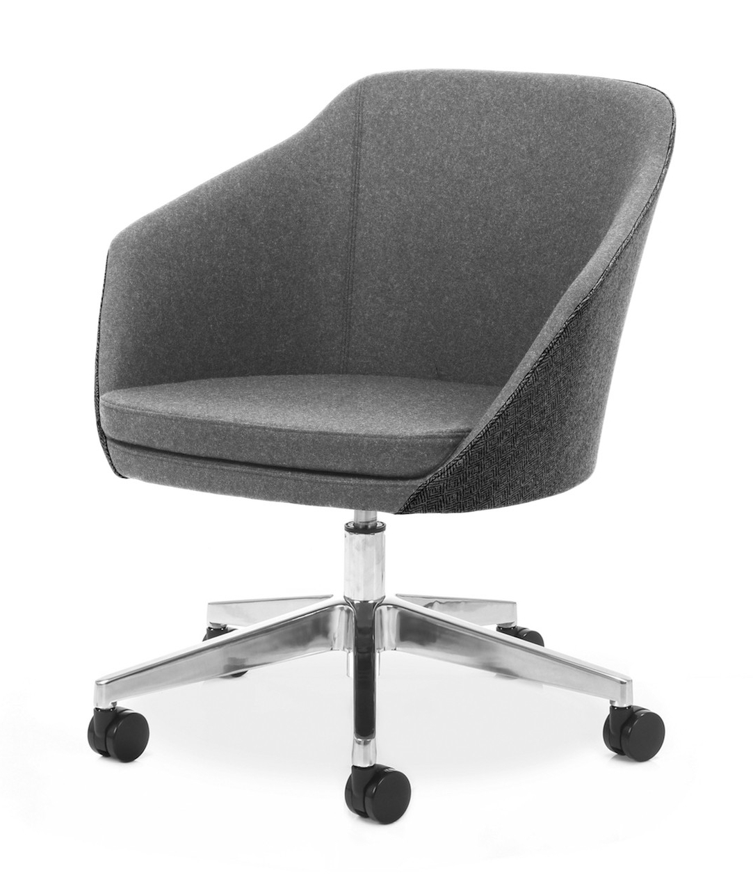 Best And Newest Chill Swivel Chairs With Metal Base For Annette: 5 Point Castor Base Office Furniture, Desk Chairs, Task (Gallery 9 of 20)