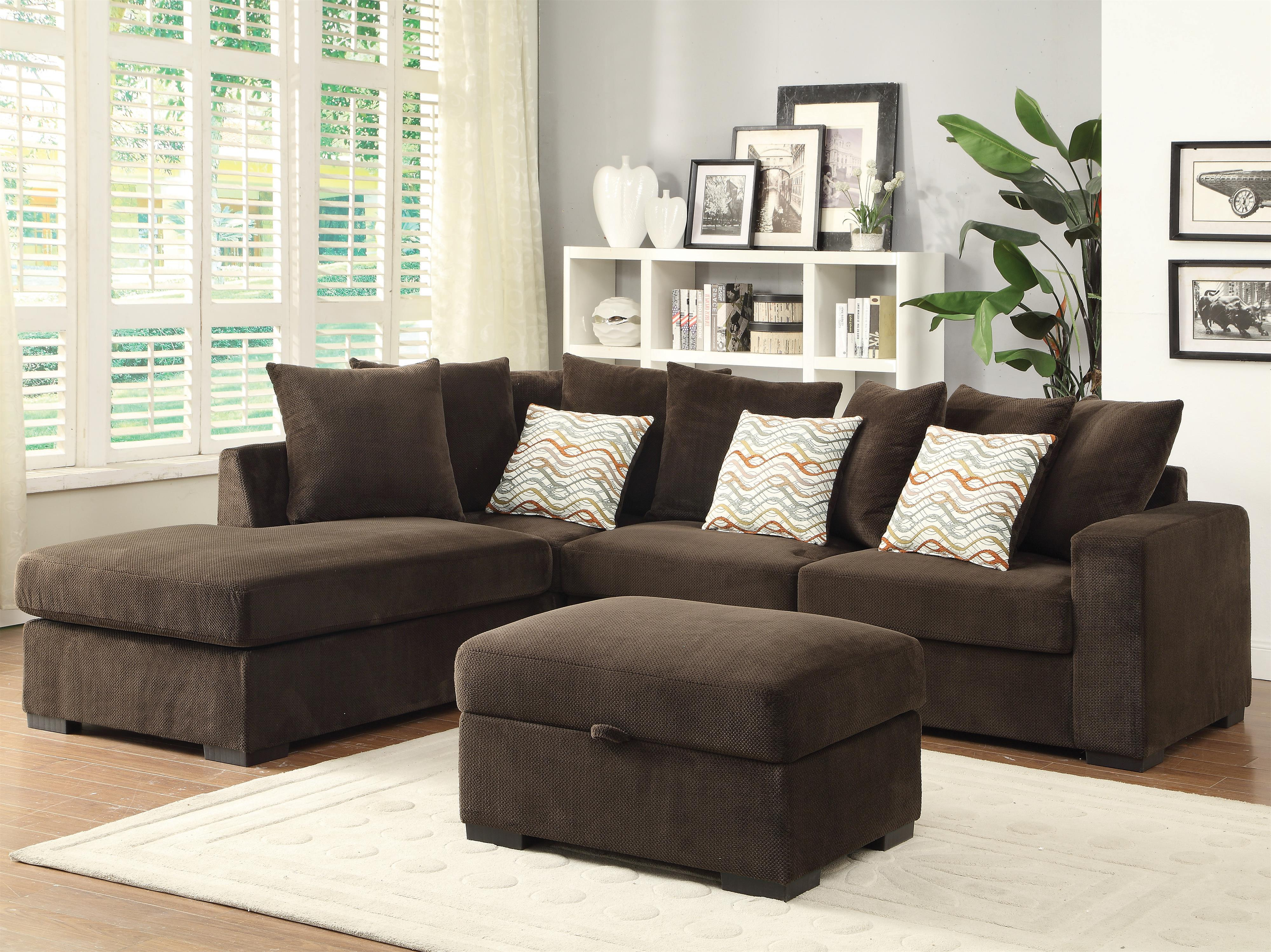 Best And Newest Coaster Olson Contemporary Reversible Sectional With Chaise (Gallery 10 of 20)