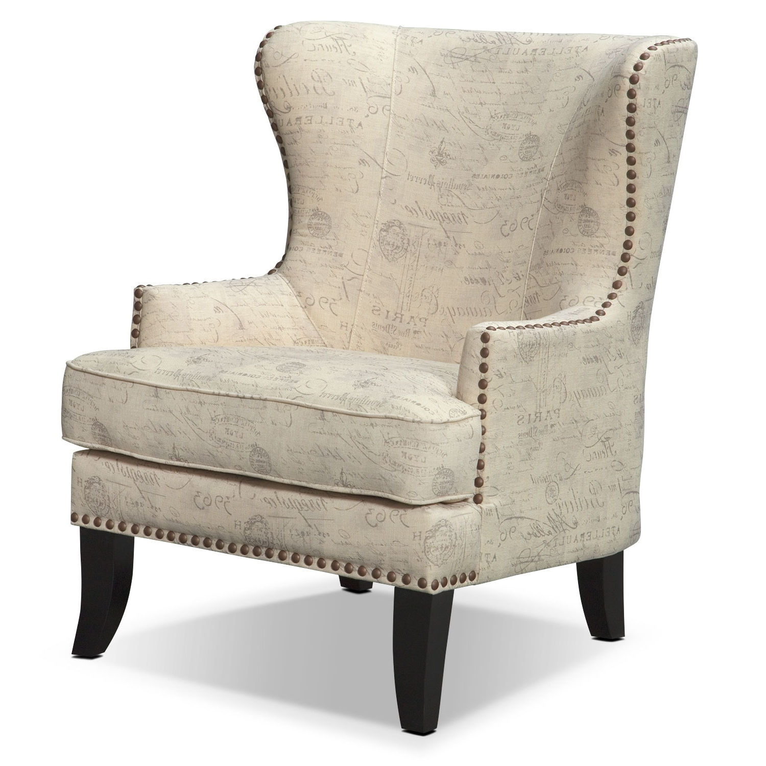 Best And Newest Marseille Accent Chair – Cream And Black (View 4 of 20)