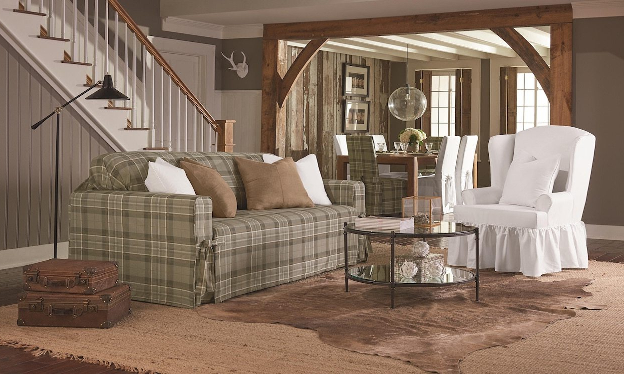 Best And Newest Slipcovers For Sofas And Chairs With Regard To How To Measure A Sofa For A Slipcover – Overstock (View 3 of 20)