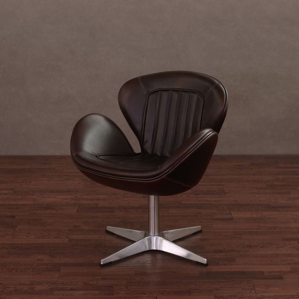 Featured Photo of Swivel Tobacco Leather Chairs