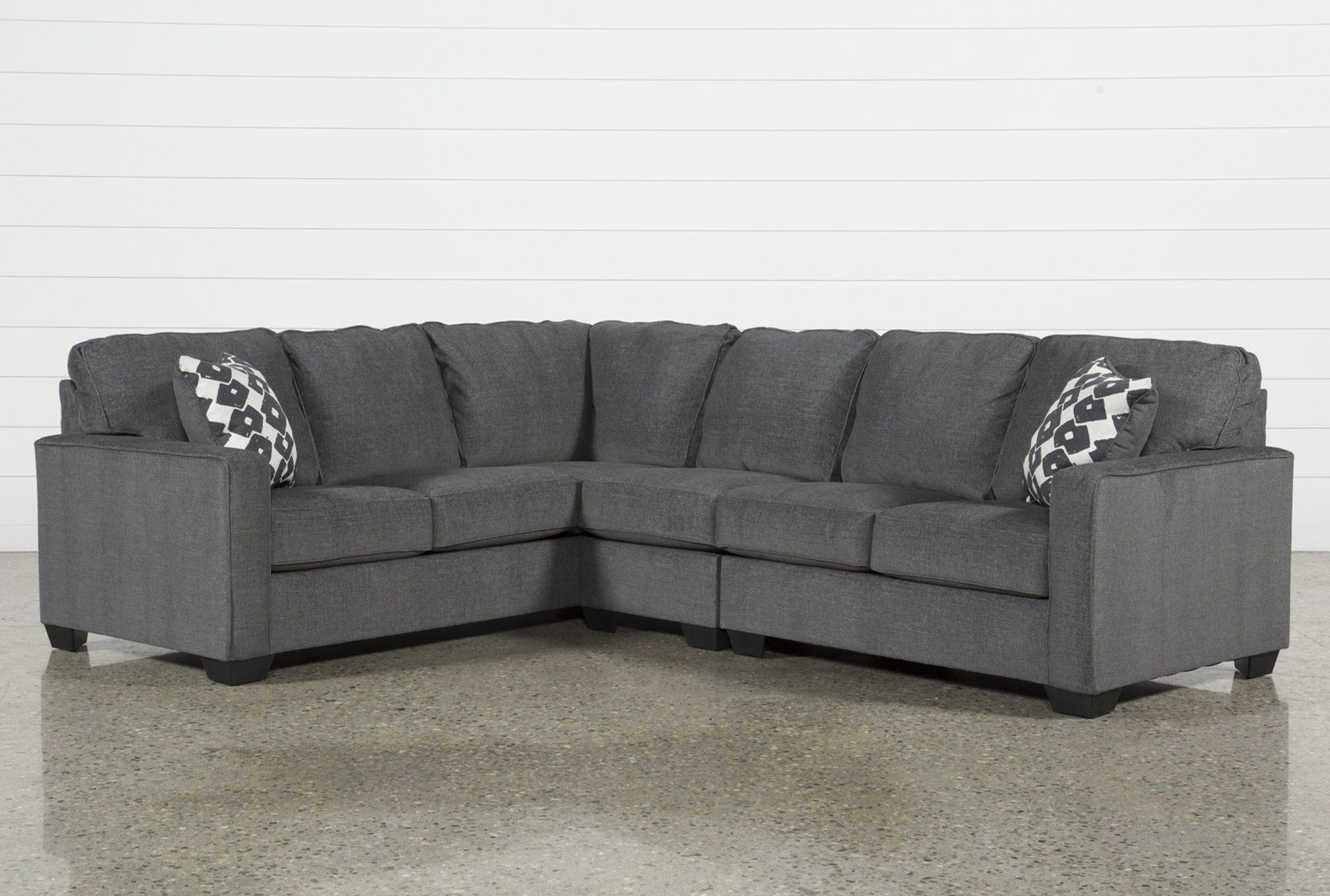 Best And Newest Turdur 3 Piece Sectional W/laf Loveseat Throughout Mcdade Graphite Sofa Chairs (View 2 of 20)