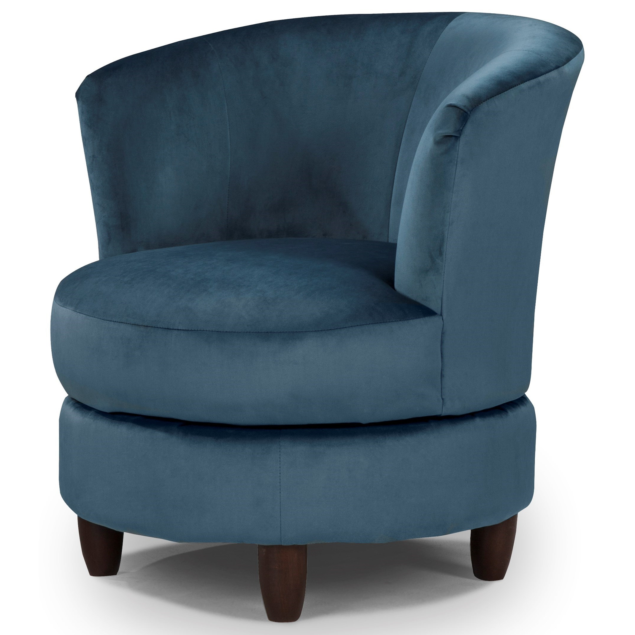 Best Home Furnishings Chairs – Swivel Barrel Palmona Swivel Barrel Regarding Most Up To Date Harbor Grey Swivel Accent Chairs (Gallery 20 of 20)