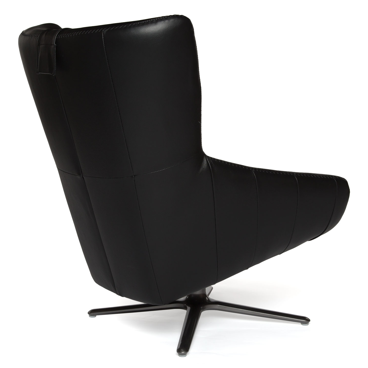 Black Leather Swivel Chair Within Recent Leather Black Swivel Chairs (Gallery 1 of 20)