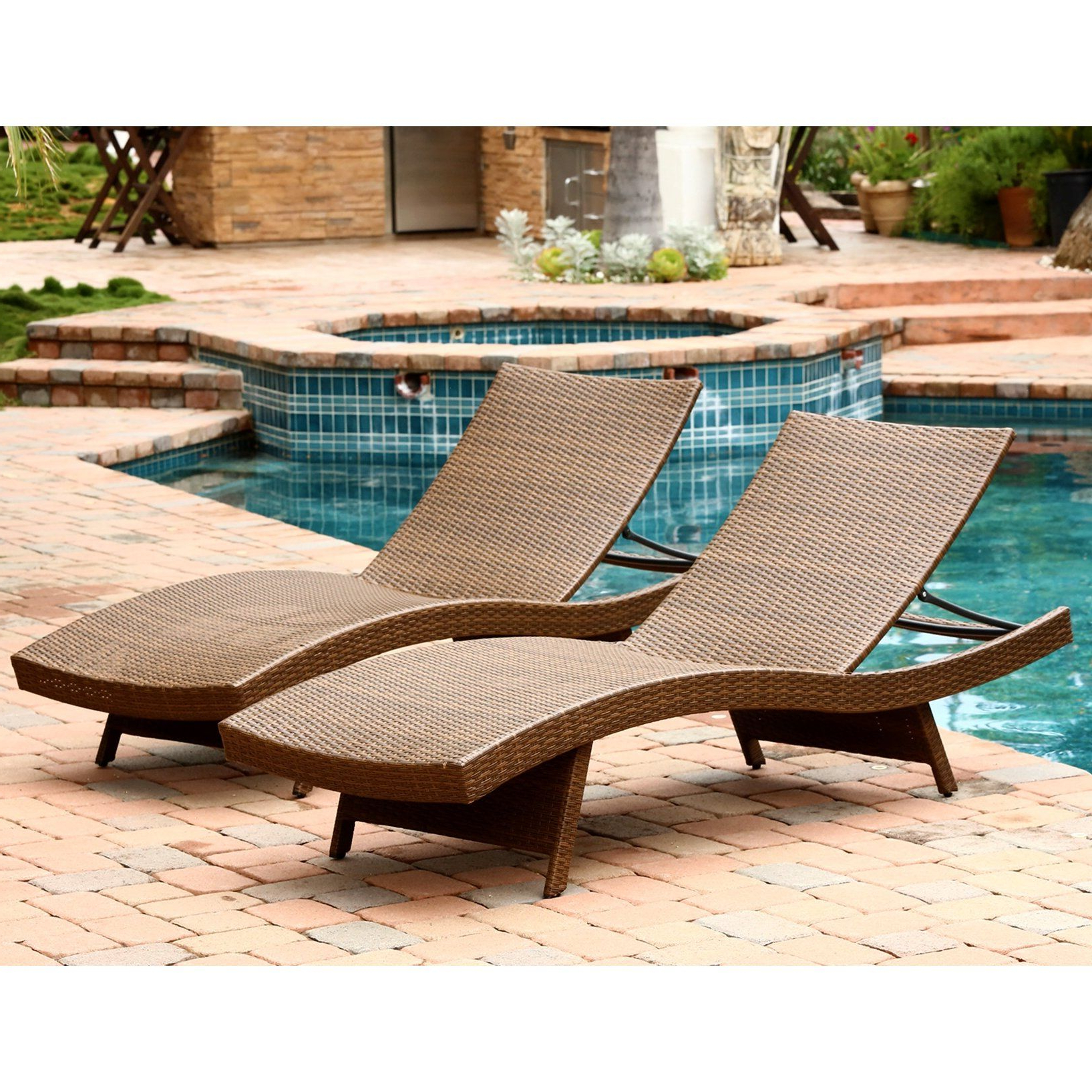 Brayden Studio® Quinn Patio Lounger (Gallery 17 of 20)